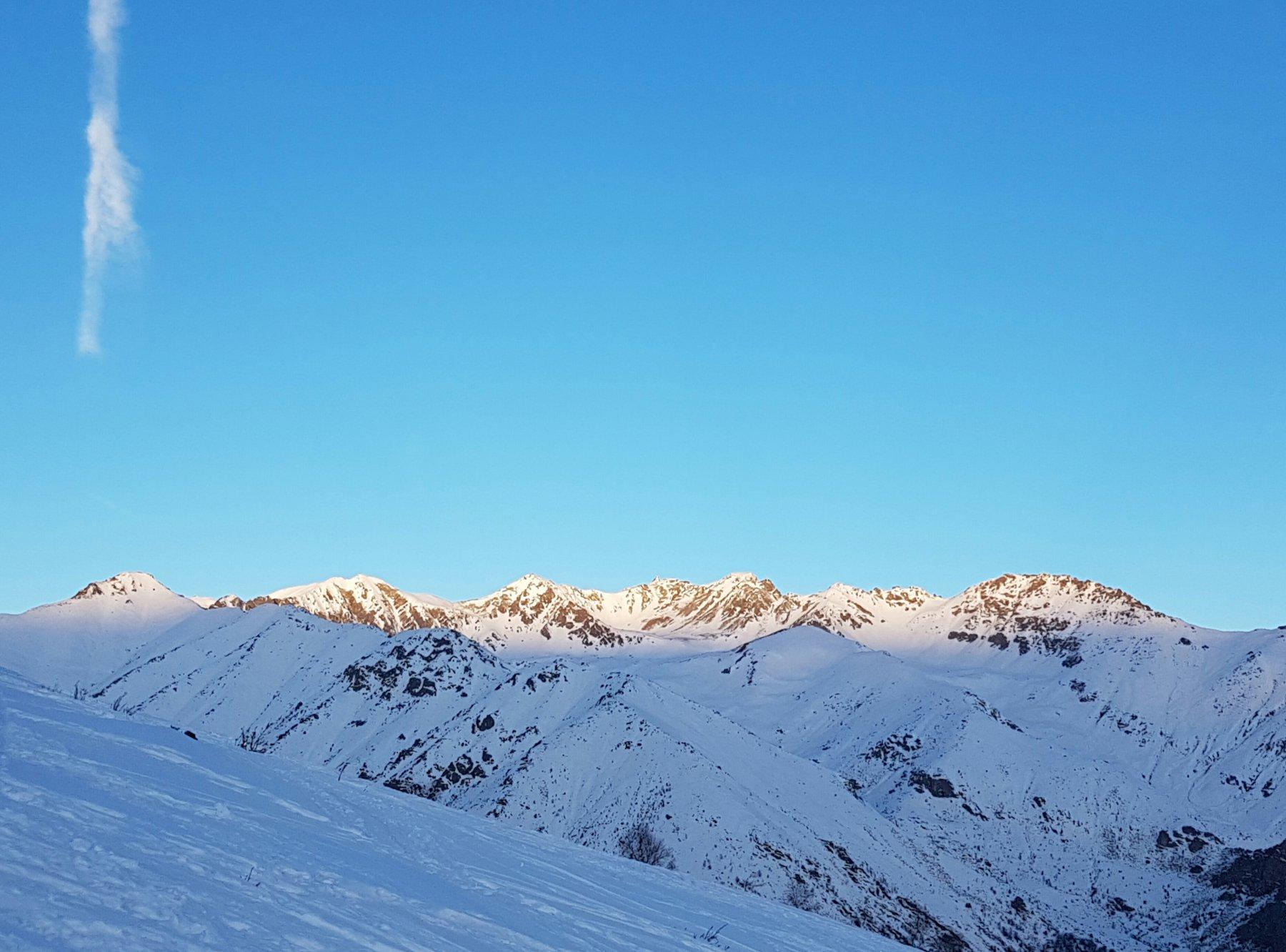 Alba sulla testata della Val Sangone