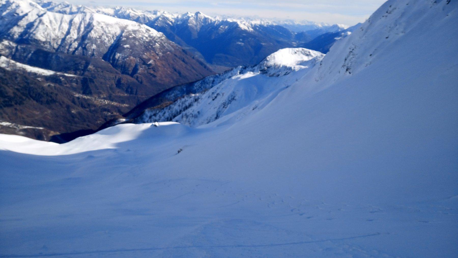 Le belle curve fatte verso Alpe Fornalino