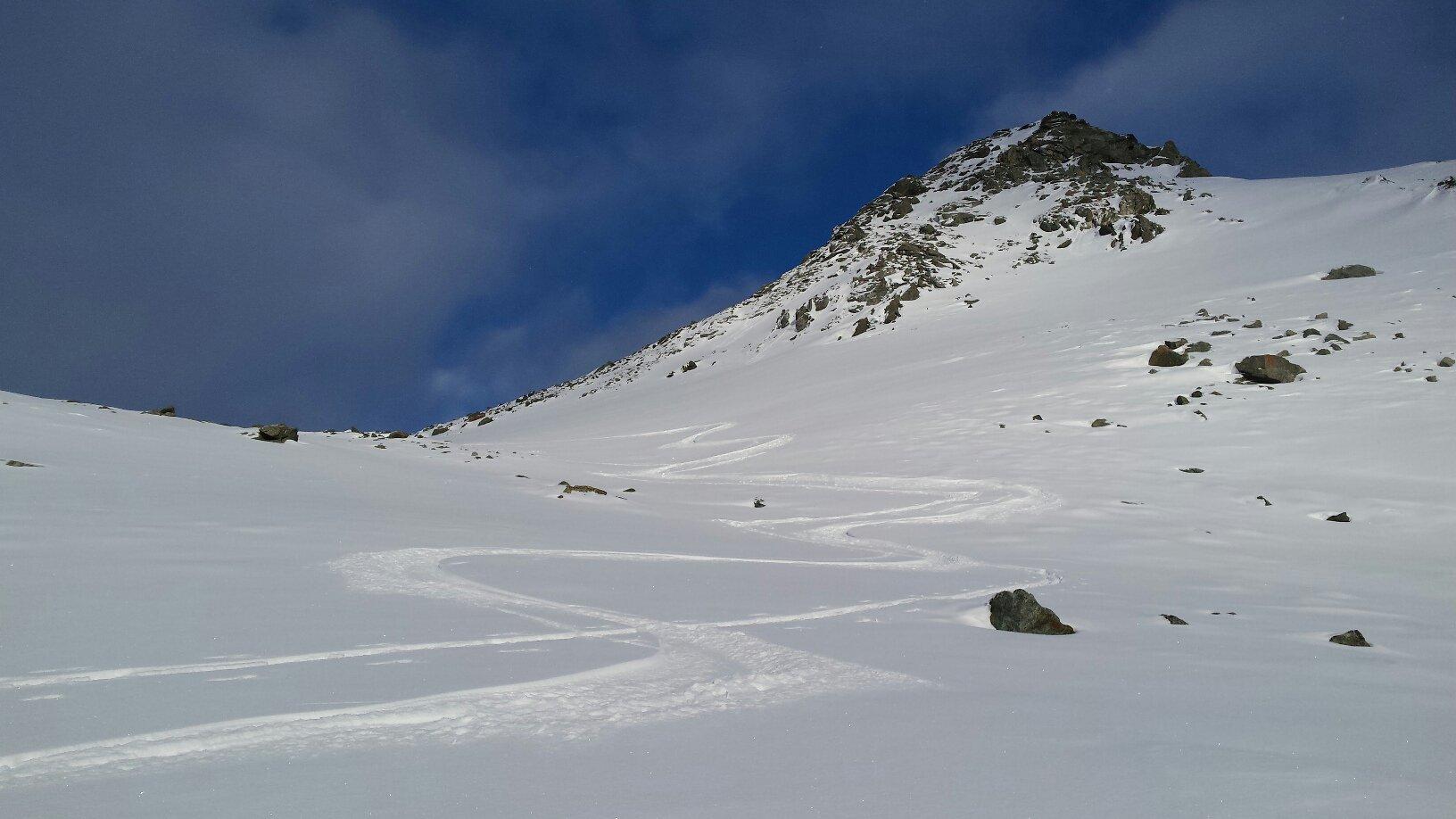 slalom tra sassi sotto la p. nord