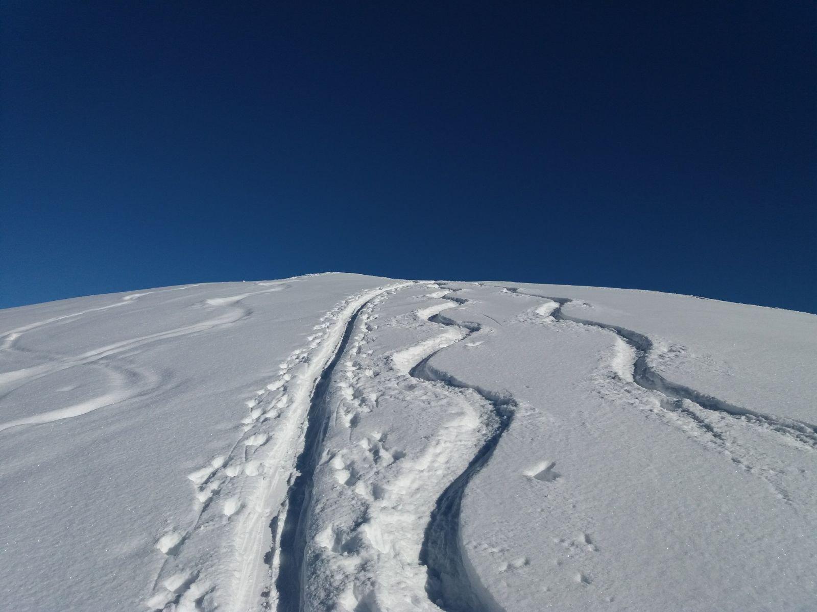 a pochi metri dalla cima, oggi polvere