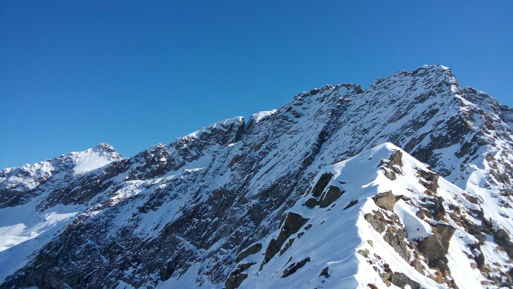 La Montaleina in primo piano e la Gojassa sullo sfondo