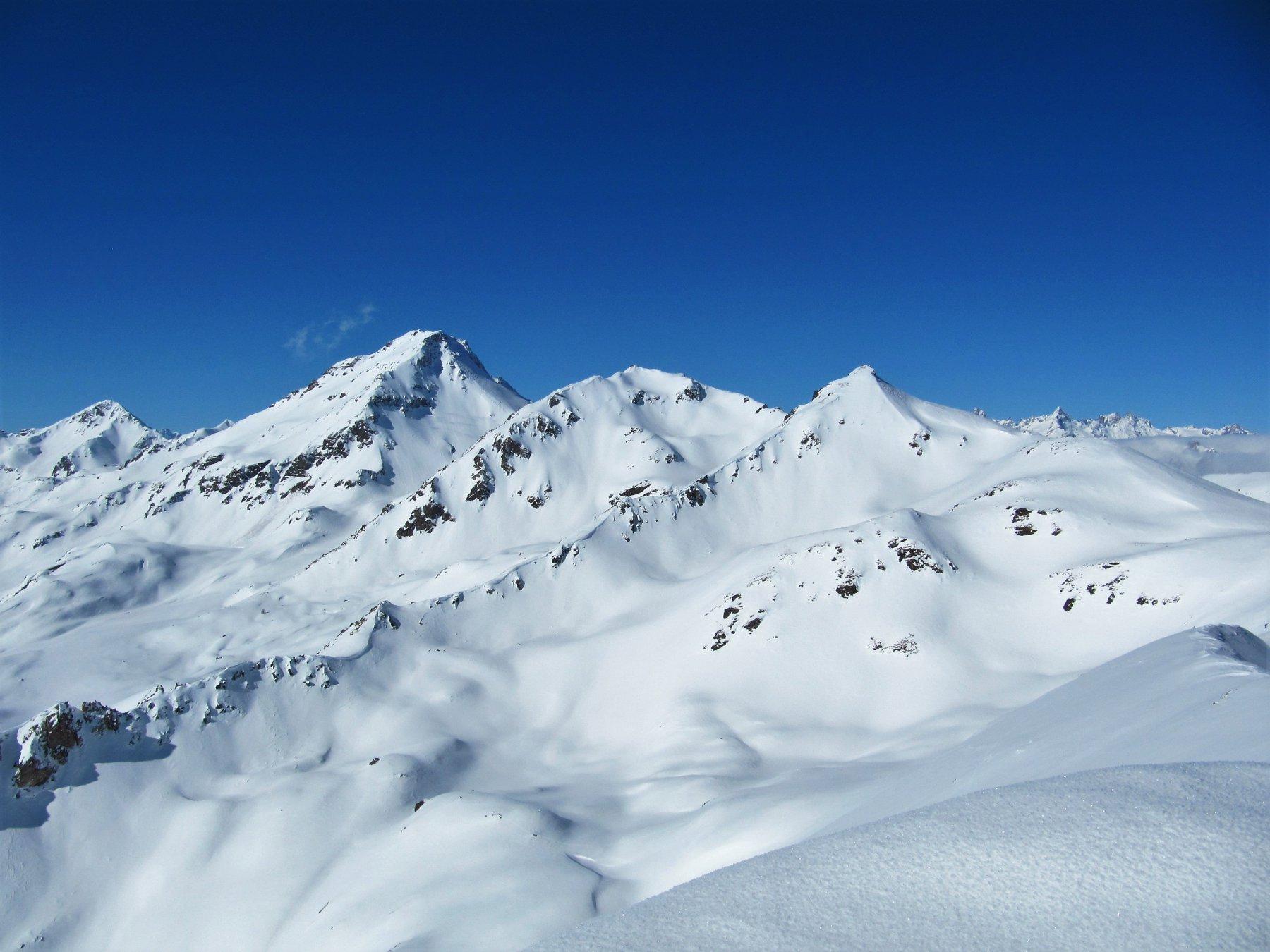 Fallère e Mont de la Tsa dalla vetta.