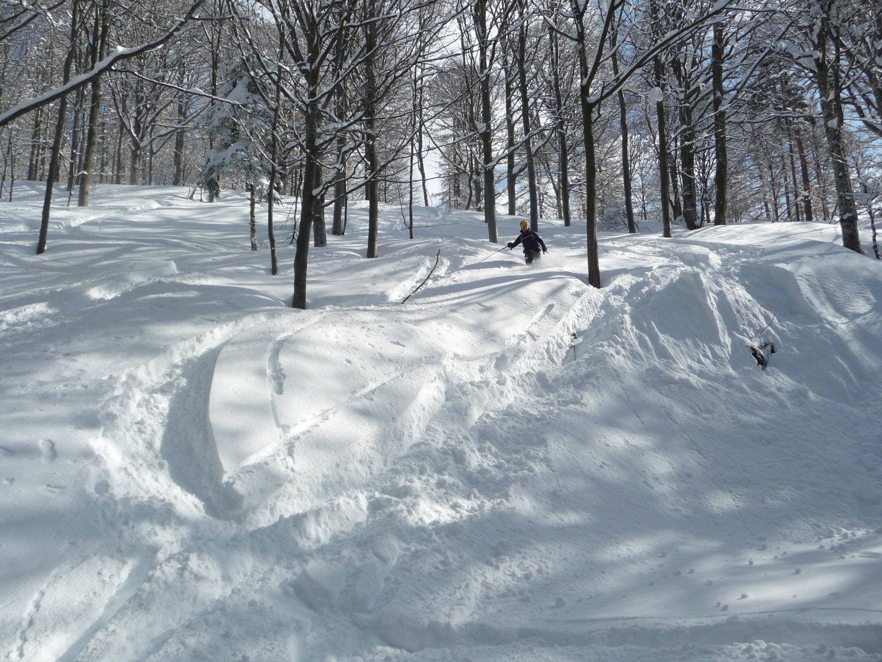 Bella neve anche sull'itinerario classico