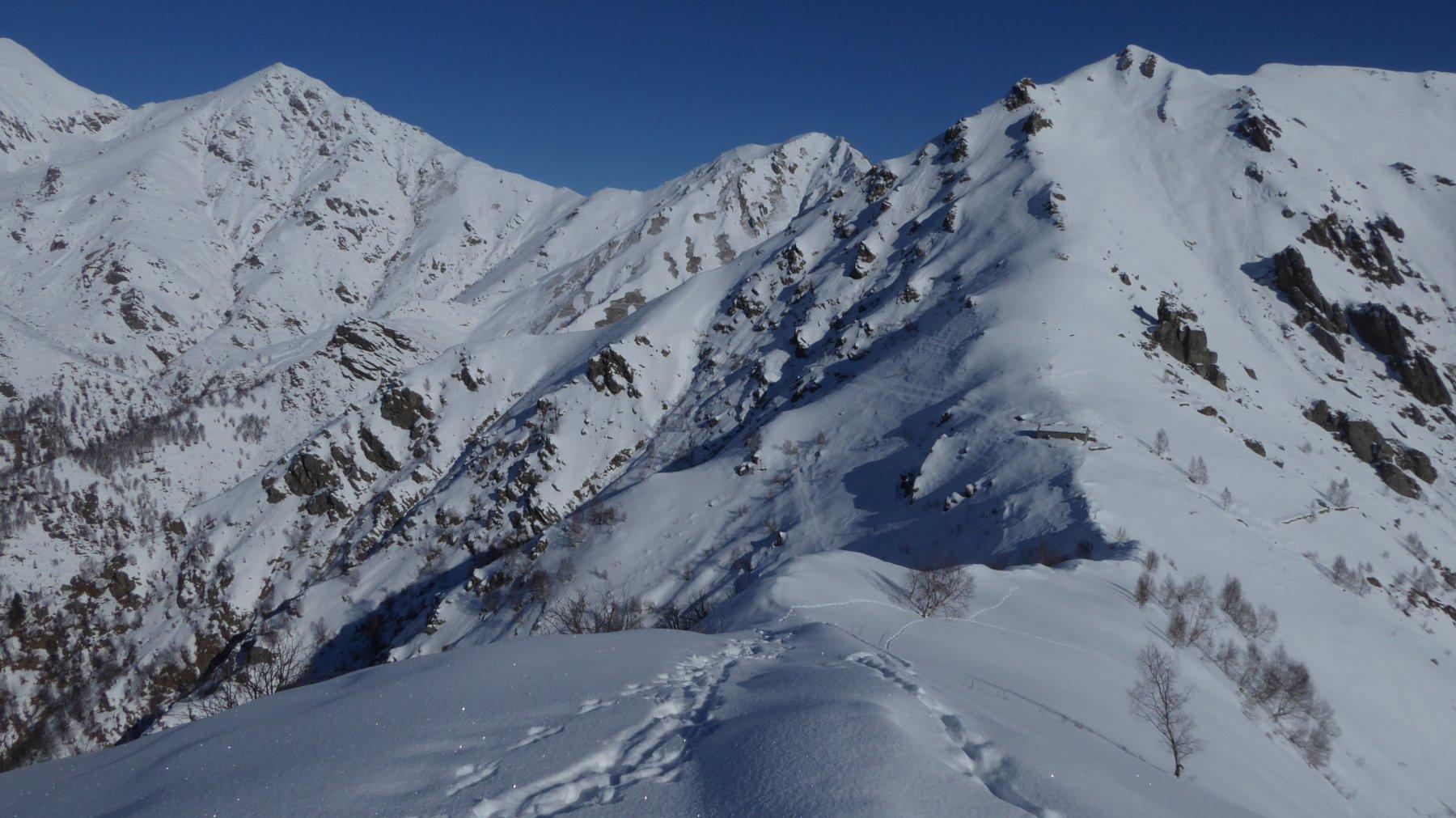Dalla Cima Saler verso l'Alpe Belvedere
