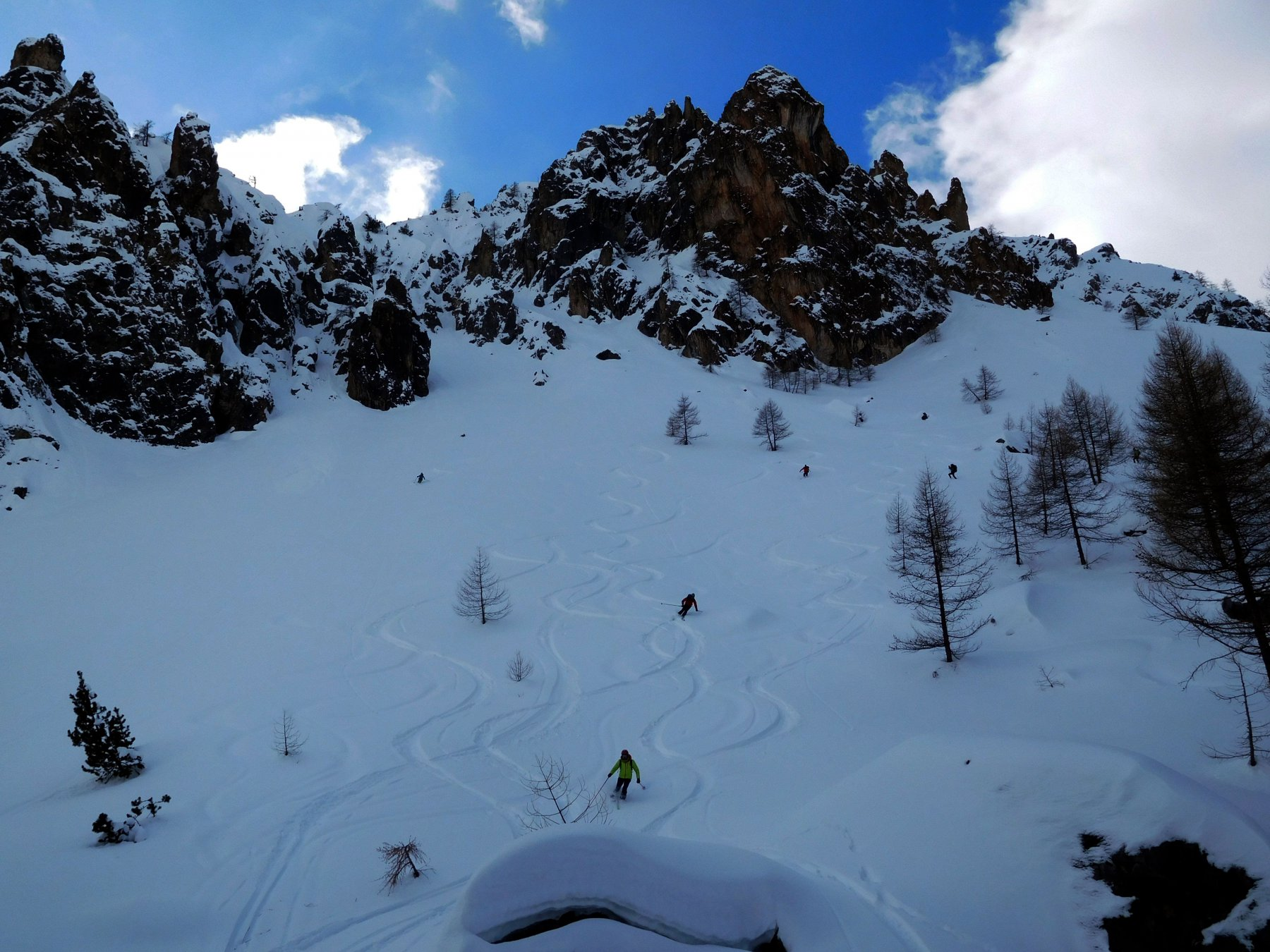 neve perfetta verso Prato Ciorliero