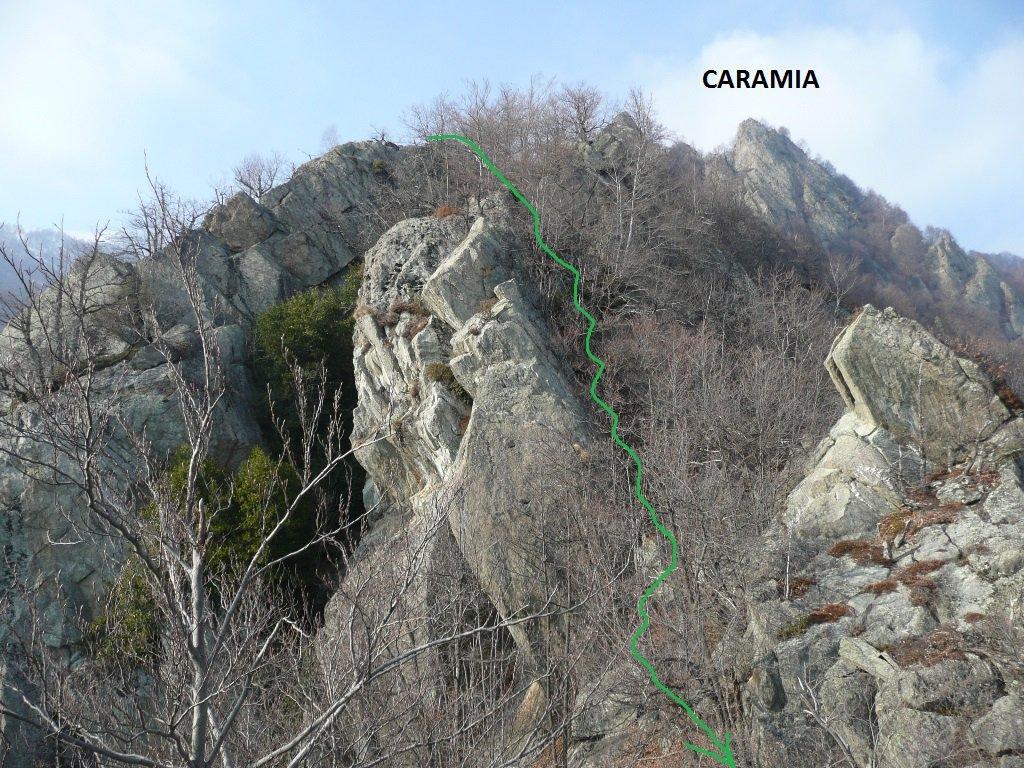 Discesa lungo la dorsale di confine Sparone - Ribordone.