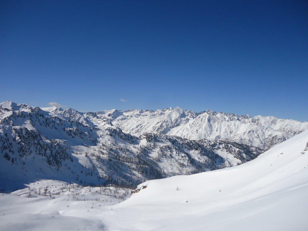 Panorama sull'Alta Valle Stura verso il Colle della Maddalena