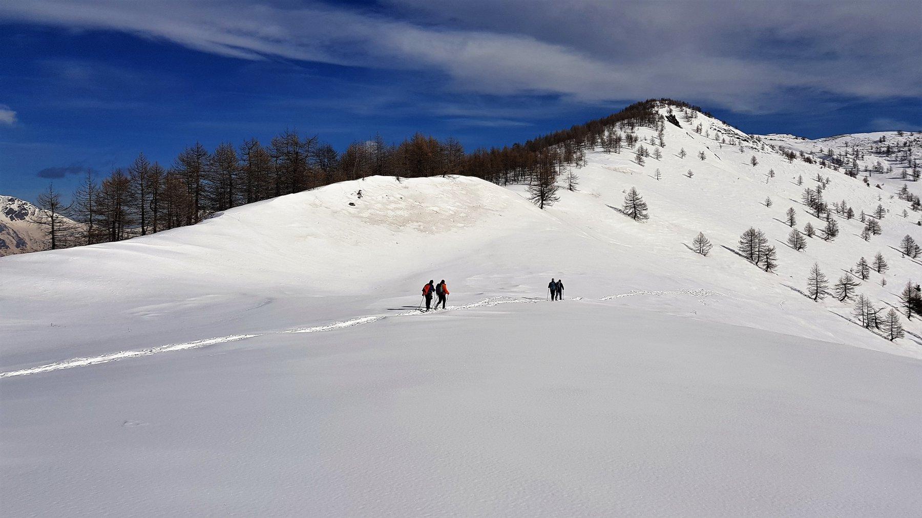 Ritorno, sfondo Monte Muret