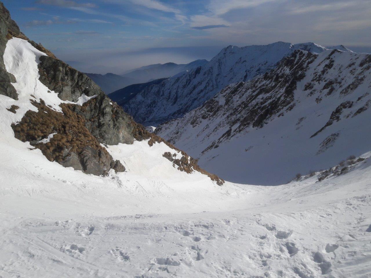 vista dal colletto sulla cresta; a 5 minuti dalla vetta