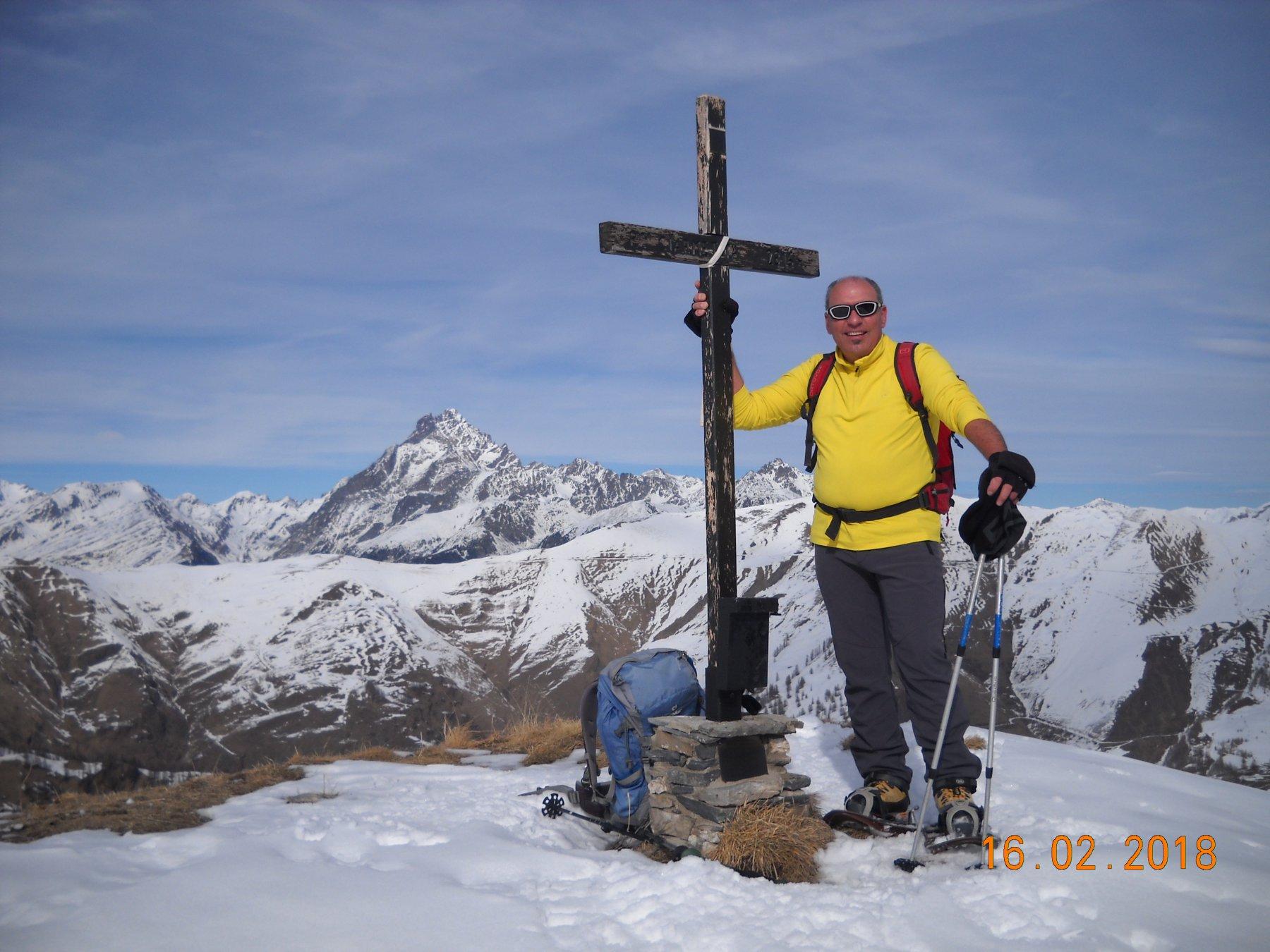 Ciarmetta 2316 mt. con Monviso