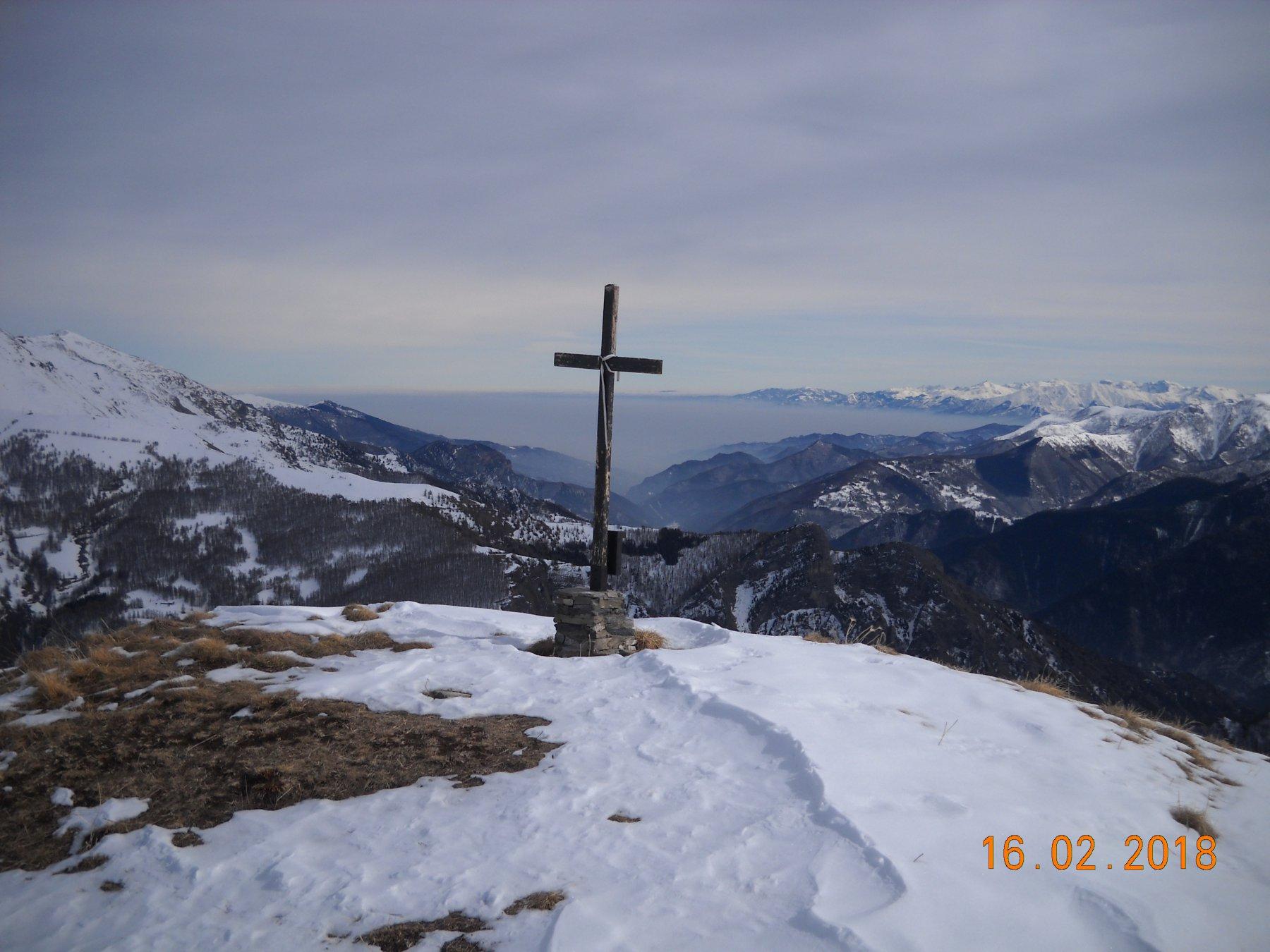 la Ciarmetta 2316 mt panorama verso  la pianura