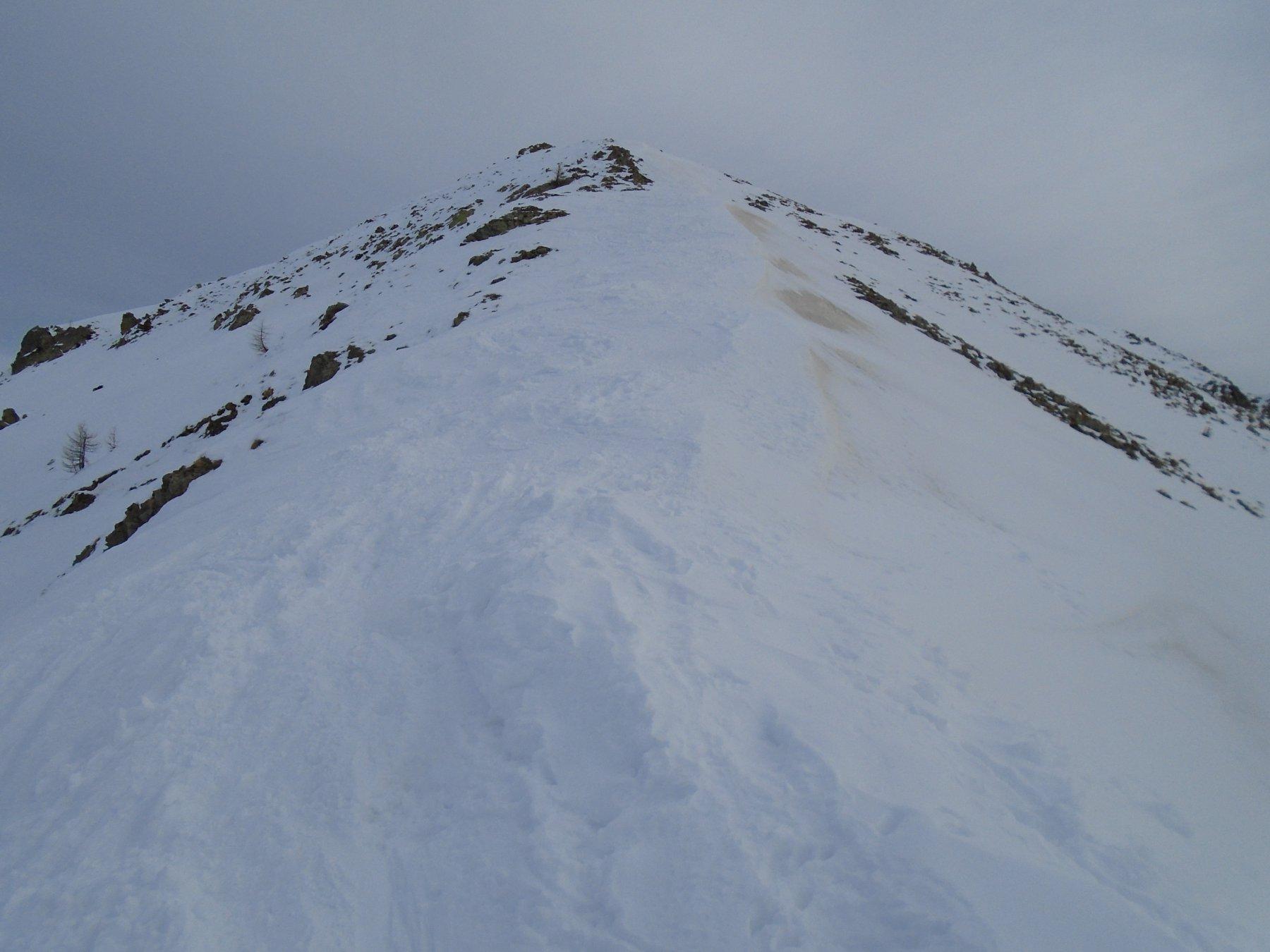 Dalla colletta la cresta verso la cima