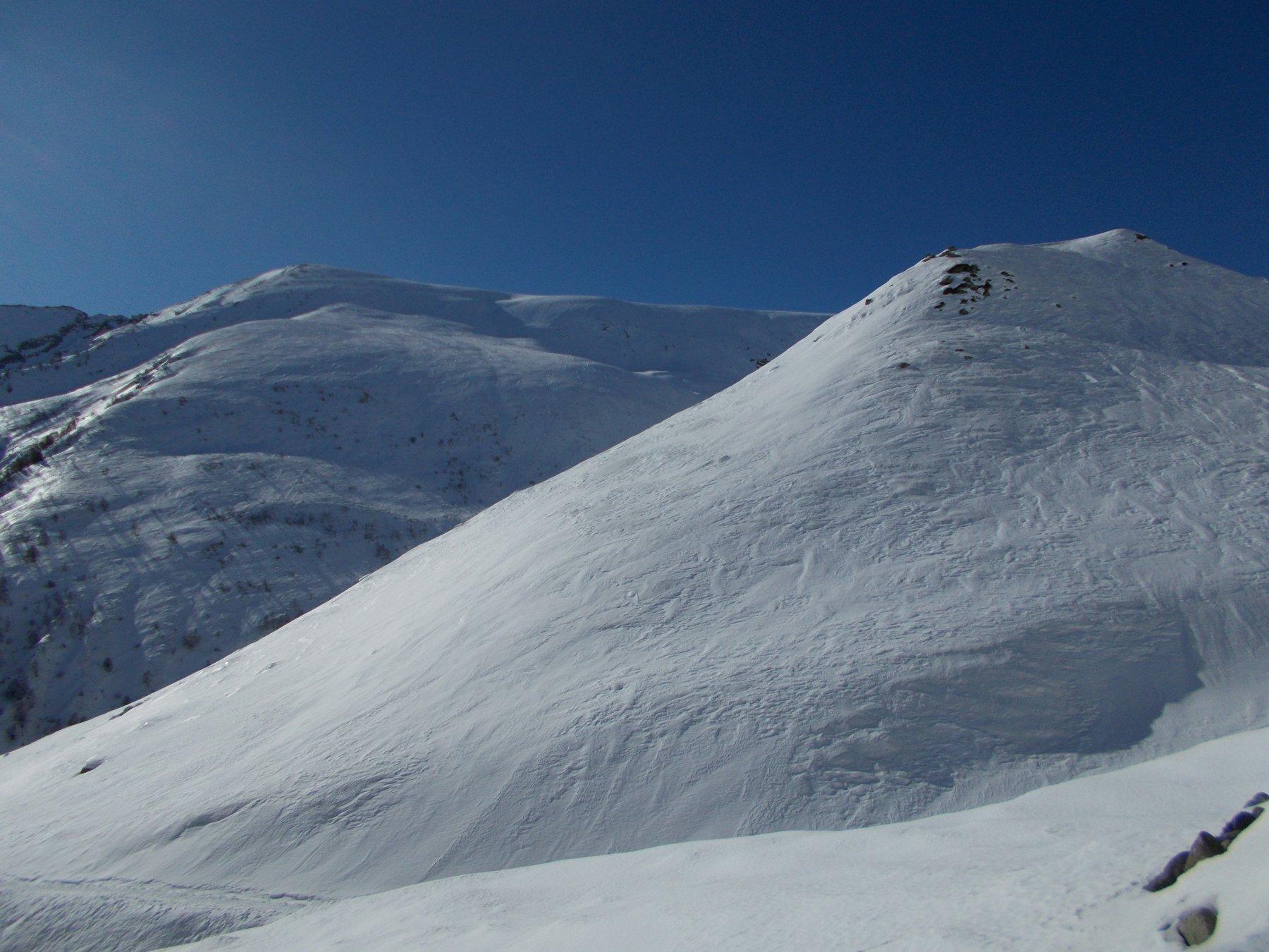 Monte Bocciarda: in realtà la cima è più in sù.