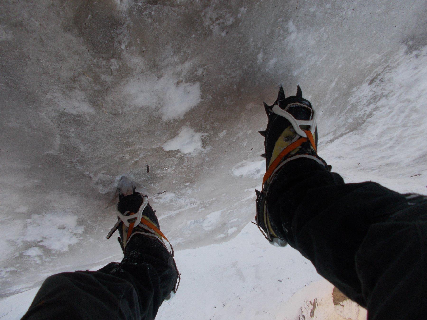 sul primo salto tutto in ghiaccio..