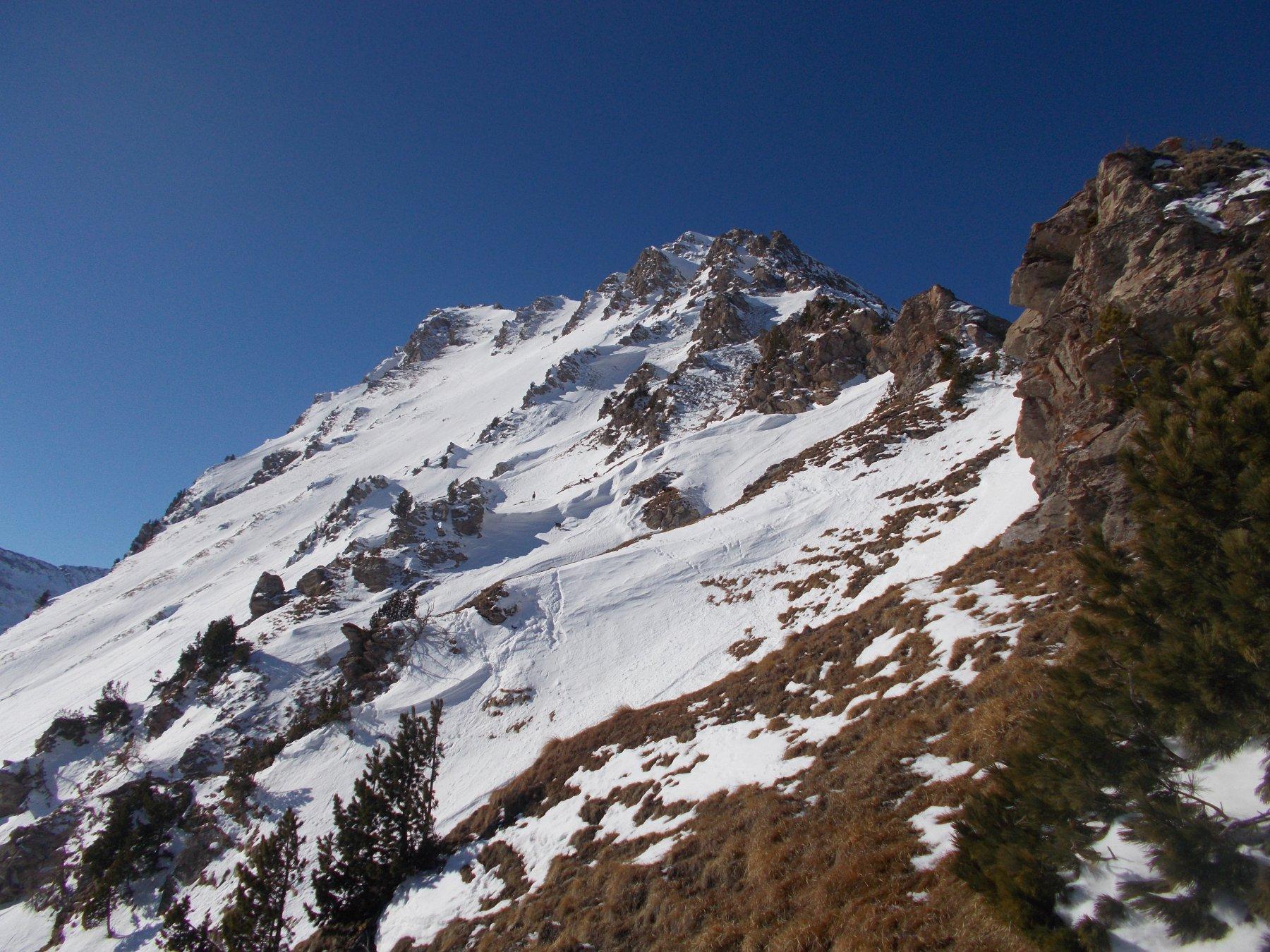 il Ciabertas dalla cresta nord est..