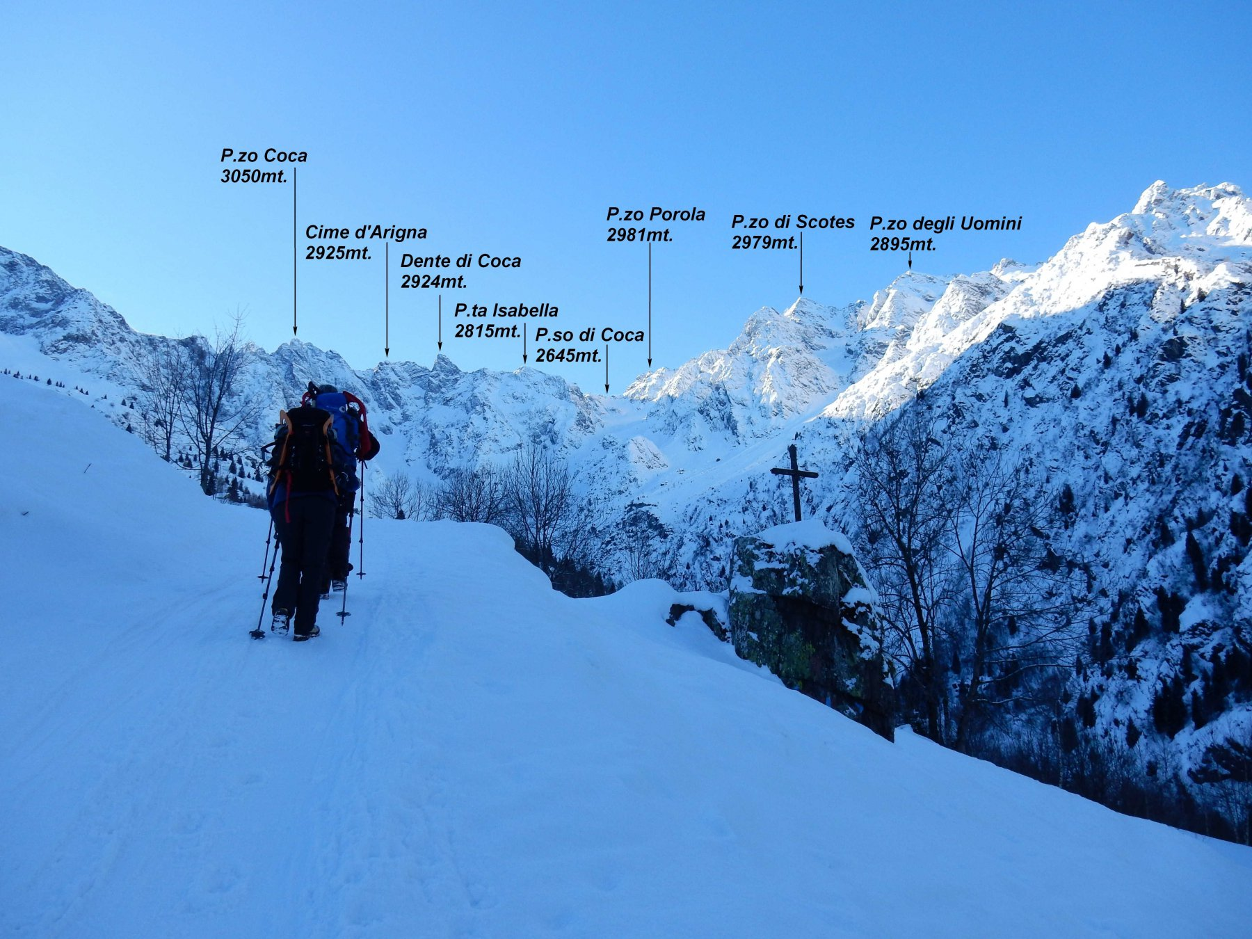 Salendo la Val d'Arigna.