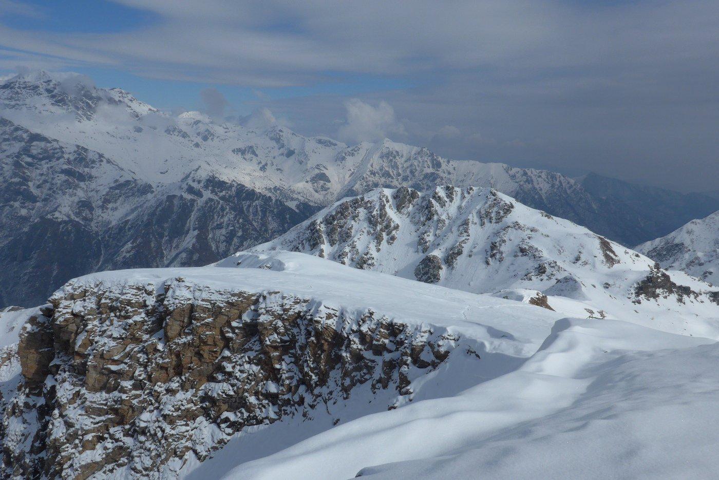Panorama sulle Lance e la bassa valle