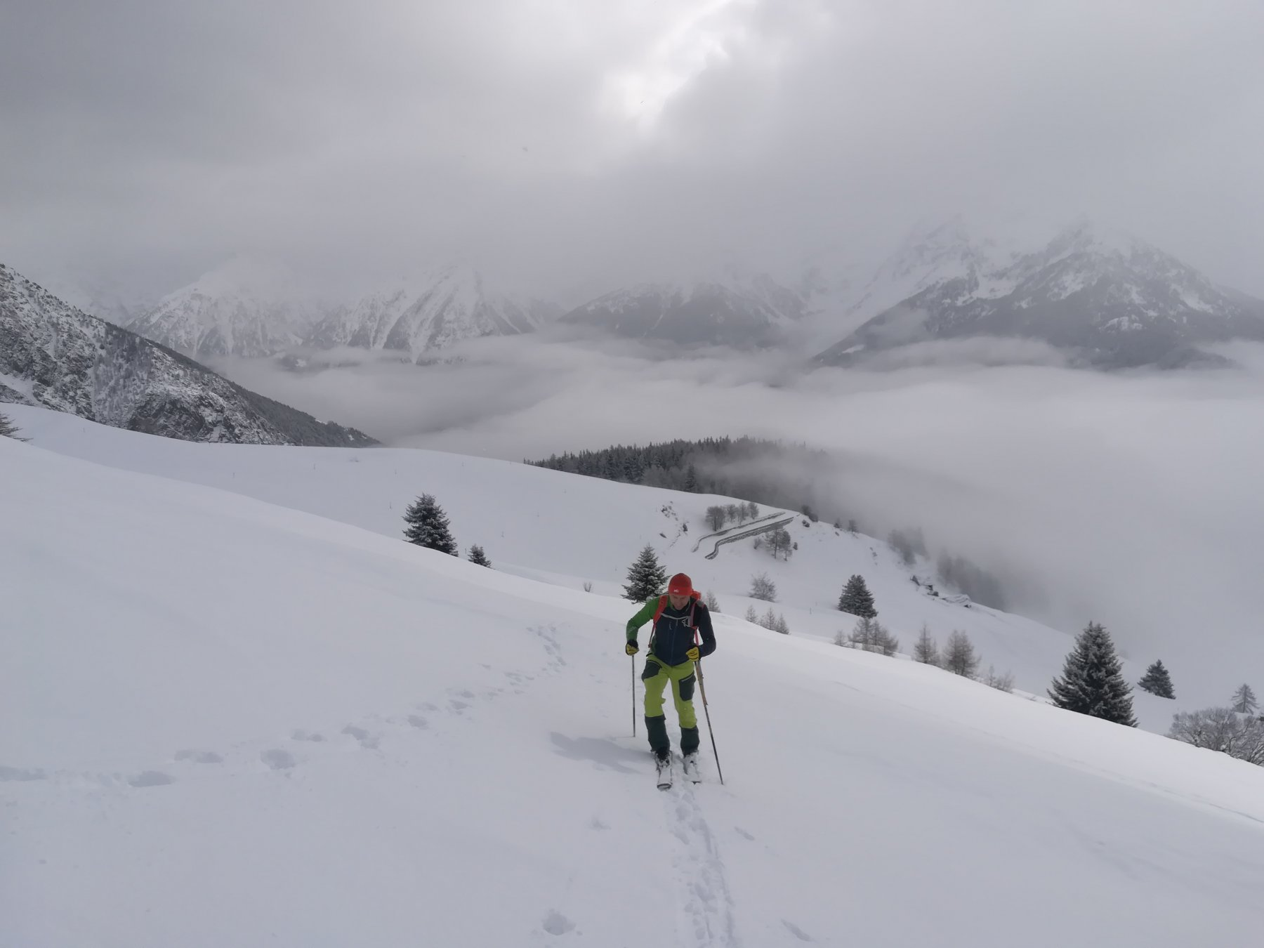 Nuvole nel fondovalle