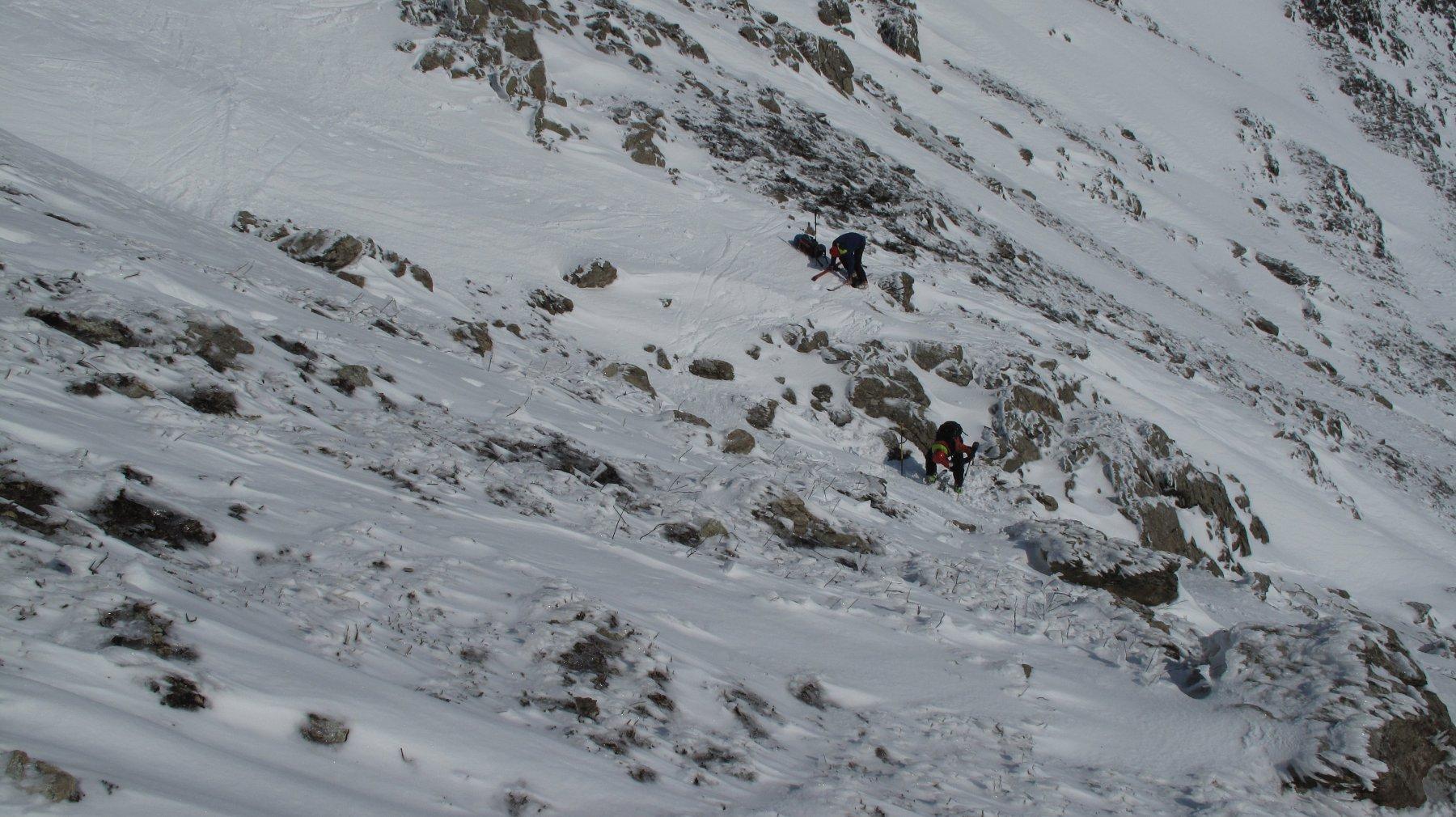 risalita del Malanotte e piedi e poi in sci