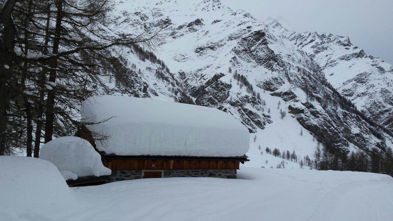 tetti con un bel po' di neve