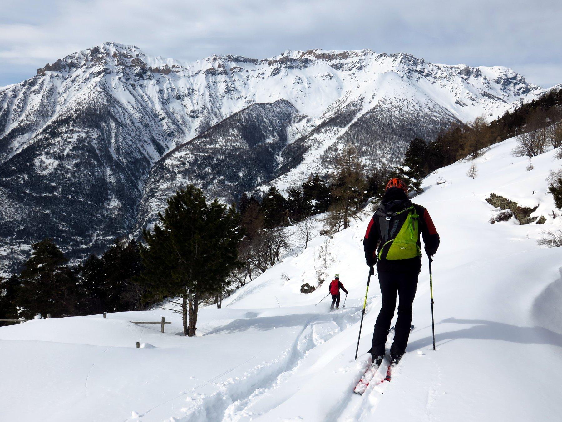 Gran Costa (Monte) da Pragelato, traversata a Salbertrand 2018-03-04