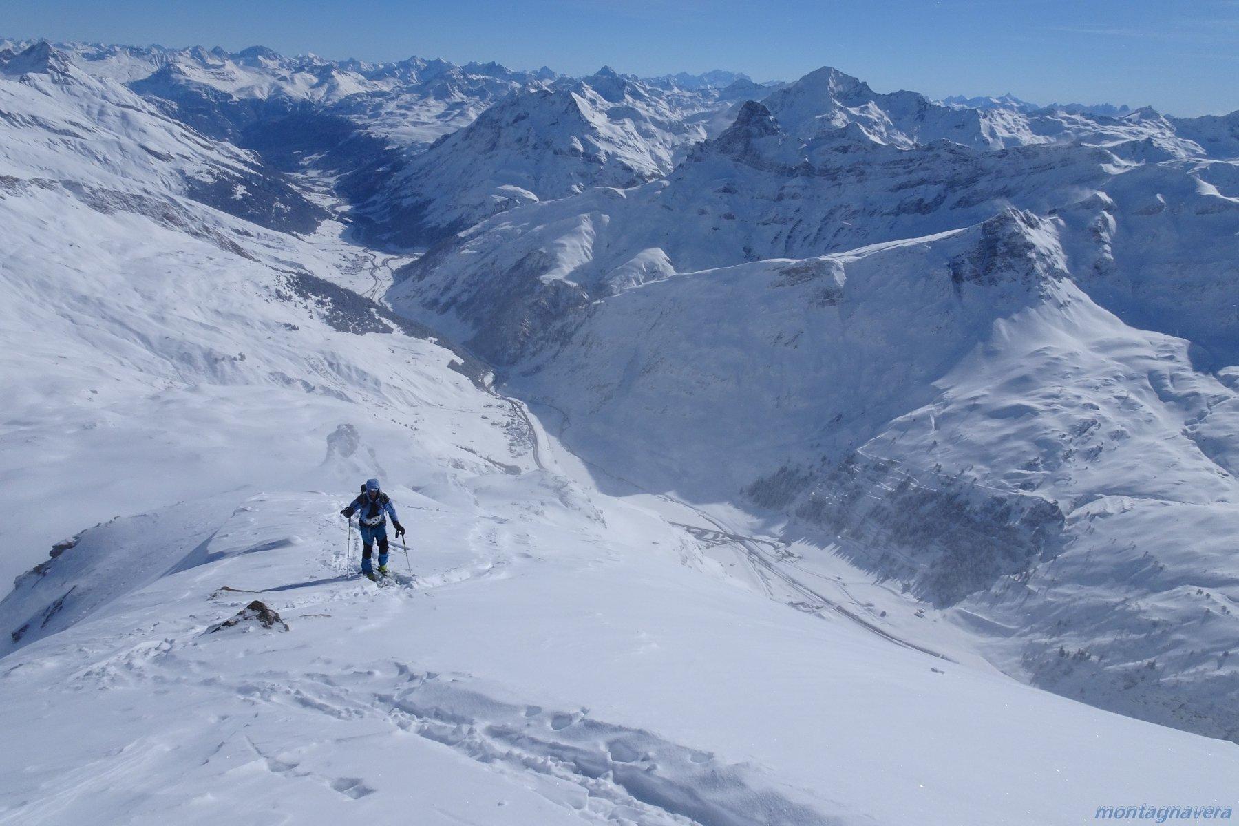 il punto più spettacolare, 1400m a sbalzo sopra il fondovalle