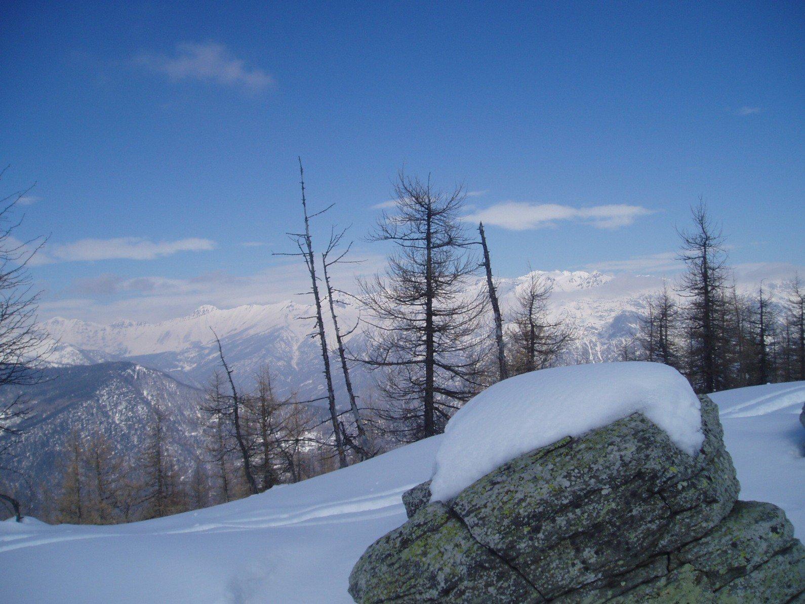 Panorama verso la catena Orsiera Rocciavrè