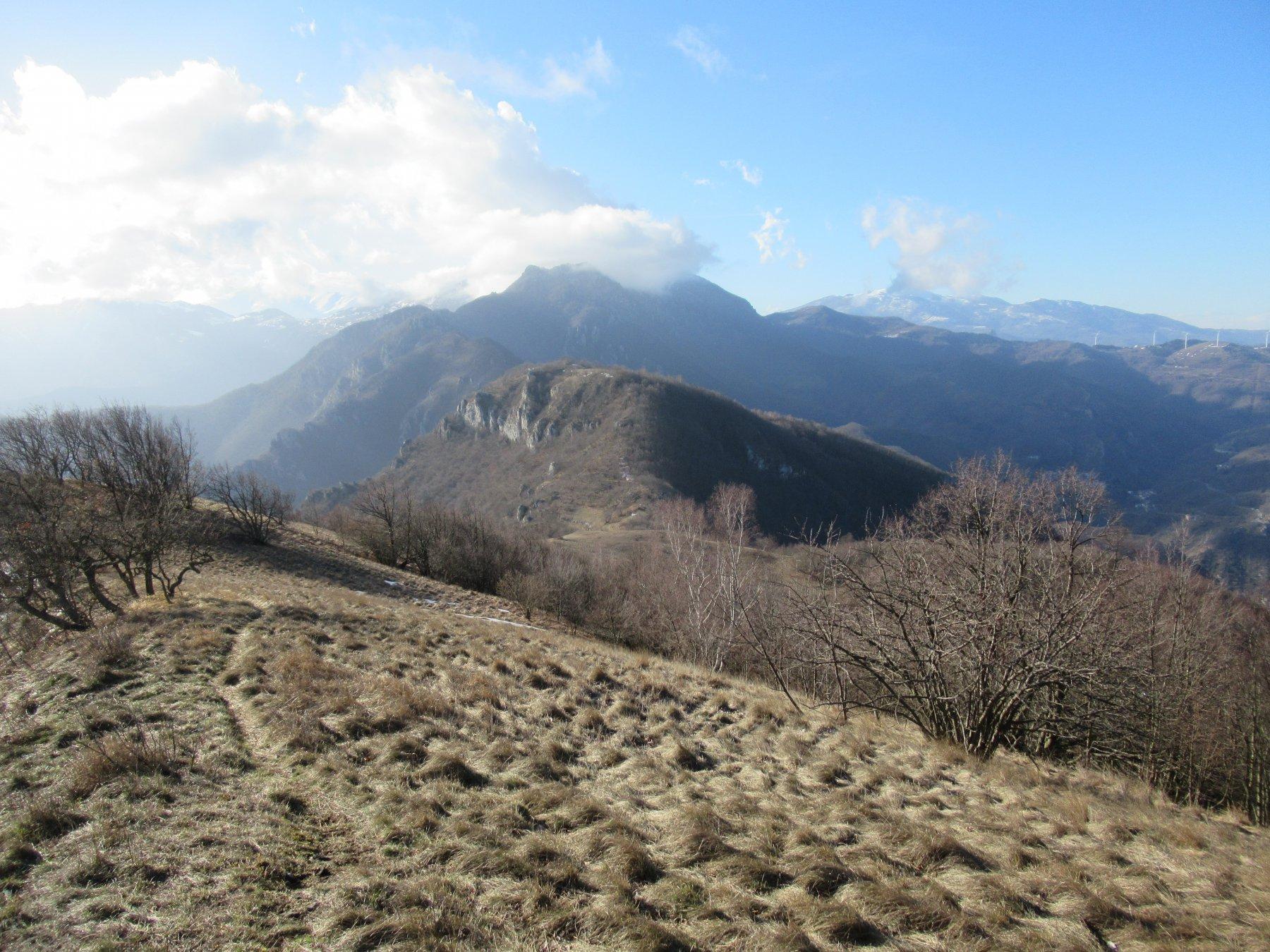 Monte Alpe Ovest dalla Est.