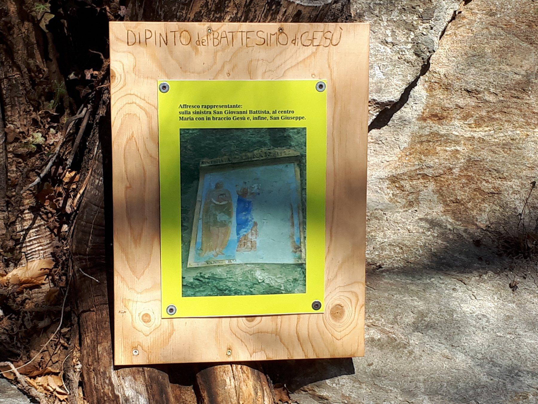 Esempio di pannello illustrativo sul percorso