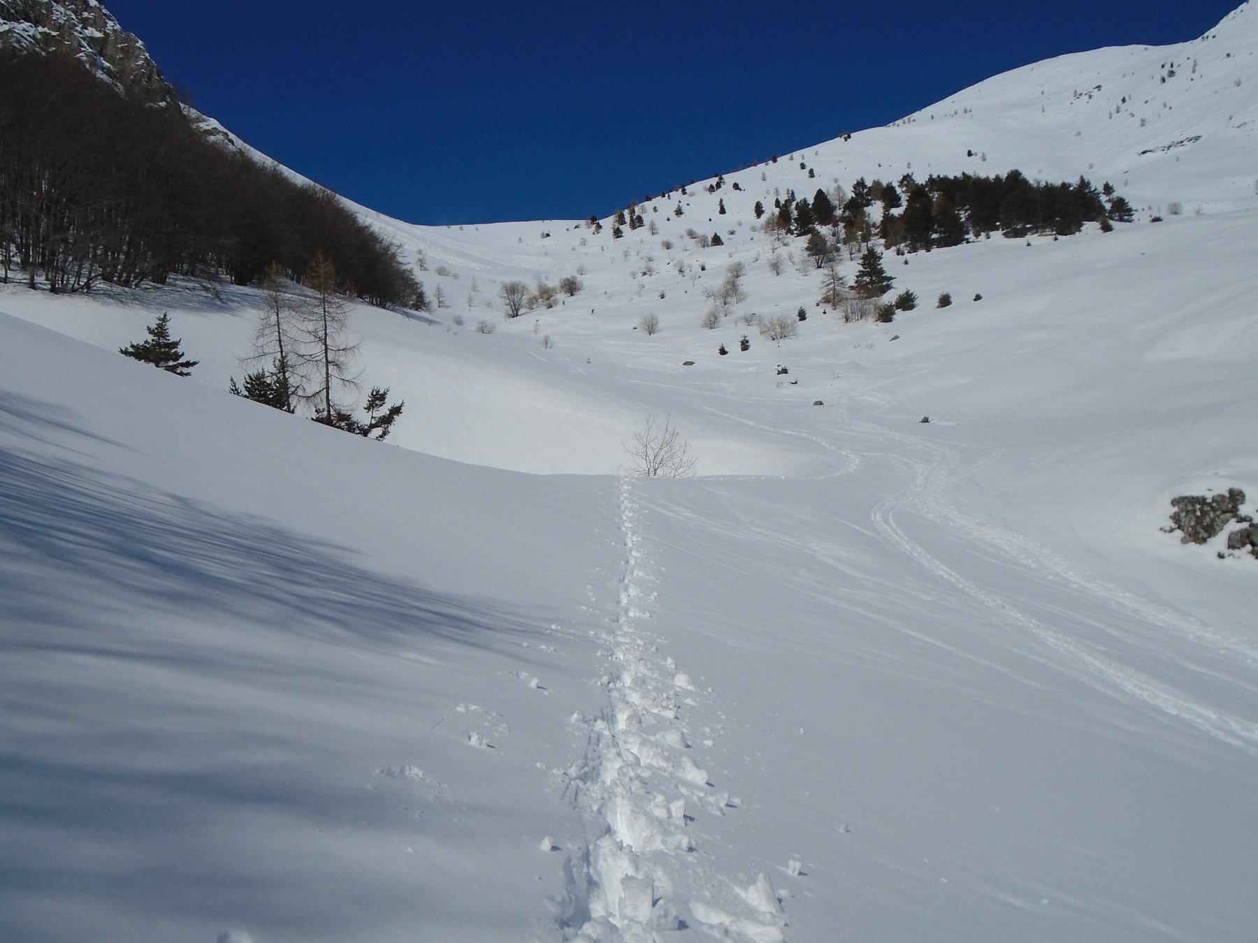 La profonda dolina sul percorso