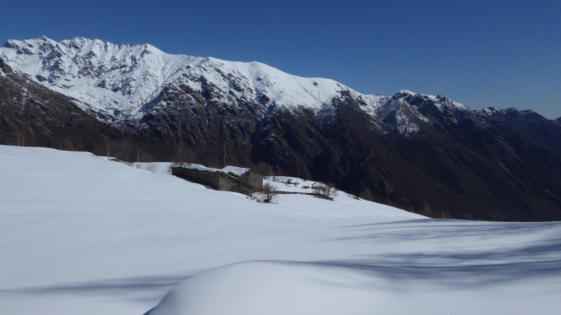 Arrivo dall'alto, all'Alpe Pian Reiner