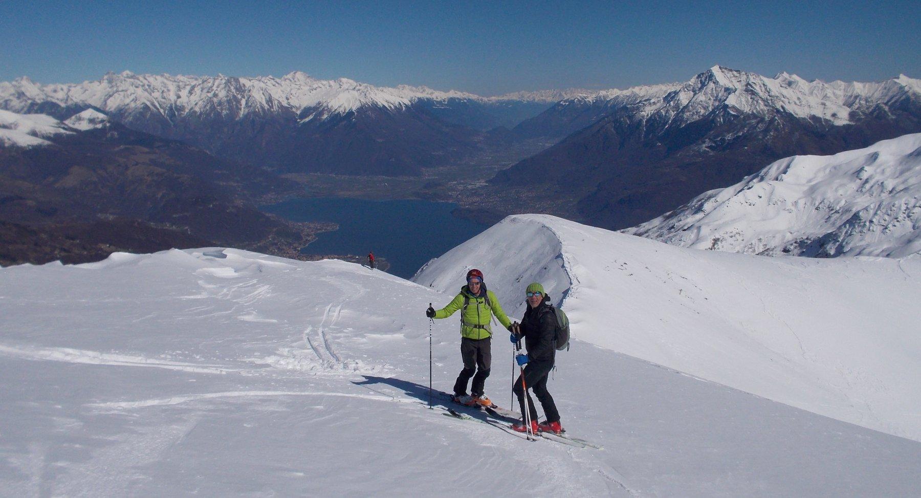 Lago di Como dai pressi della cima