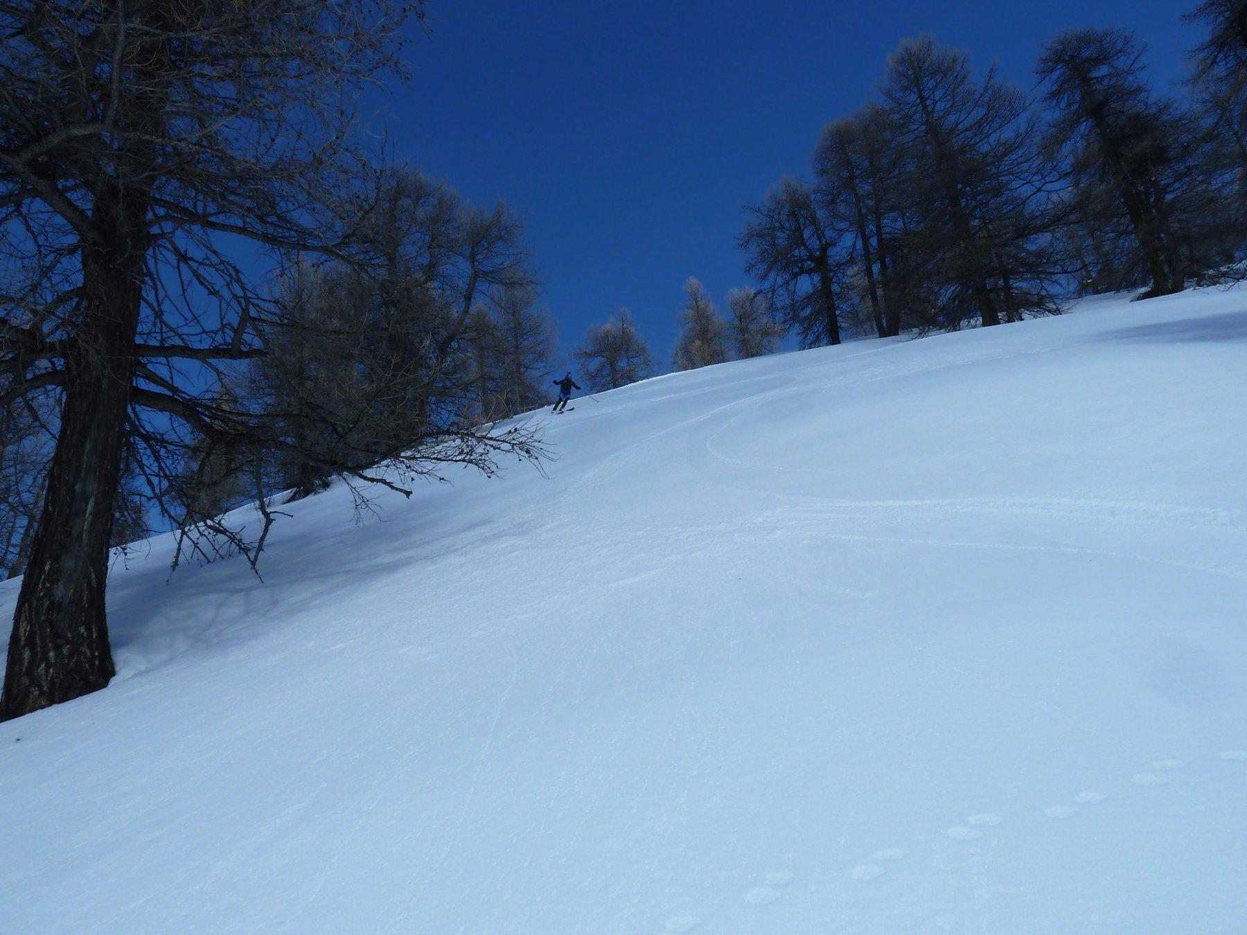 neve simil primaverile sul versante St. Paul