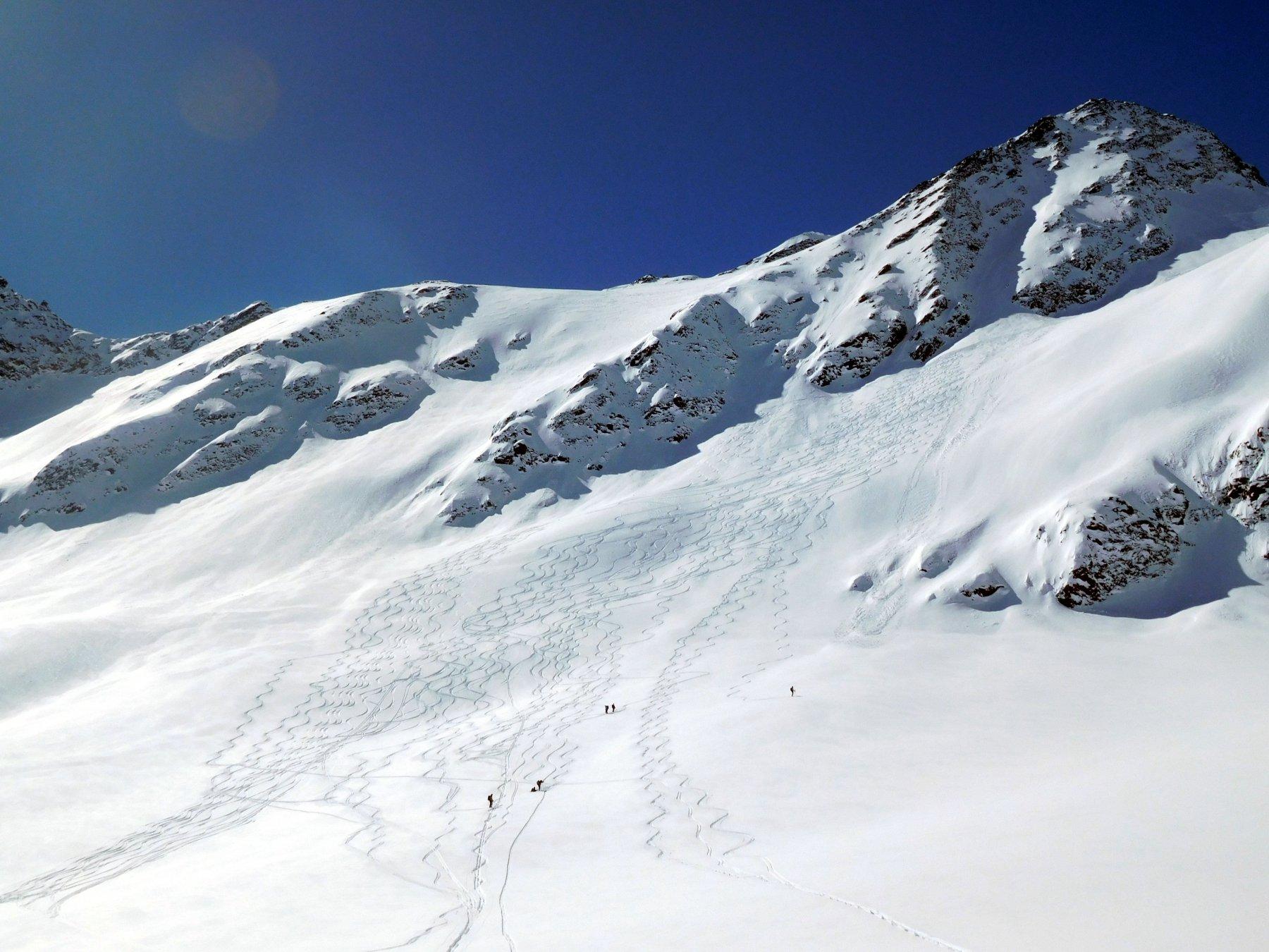 super neve sotto la cima Pedranzini