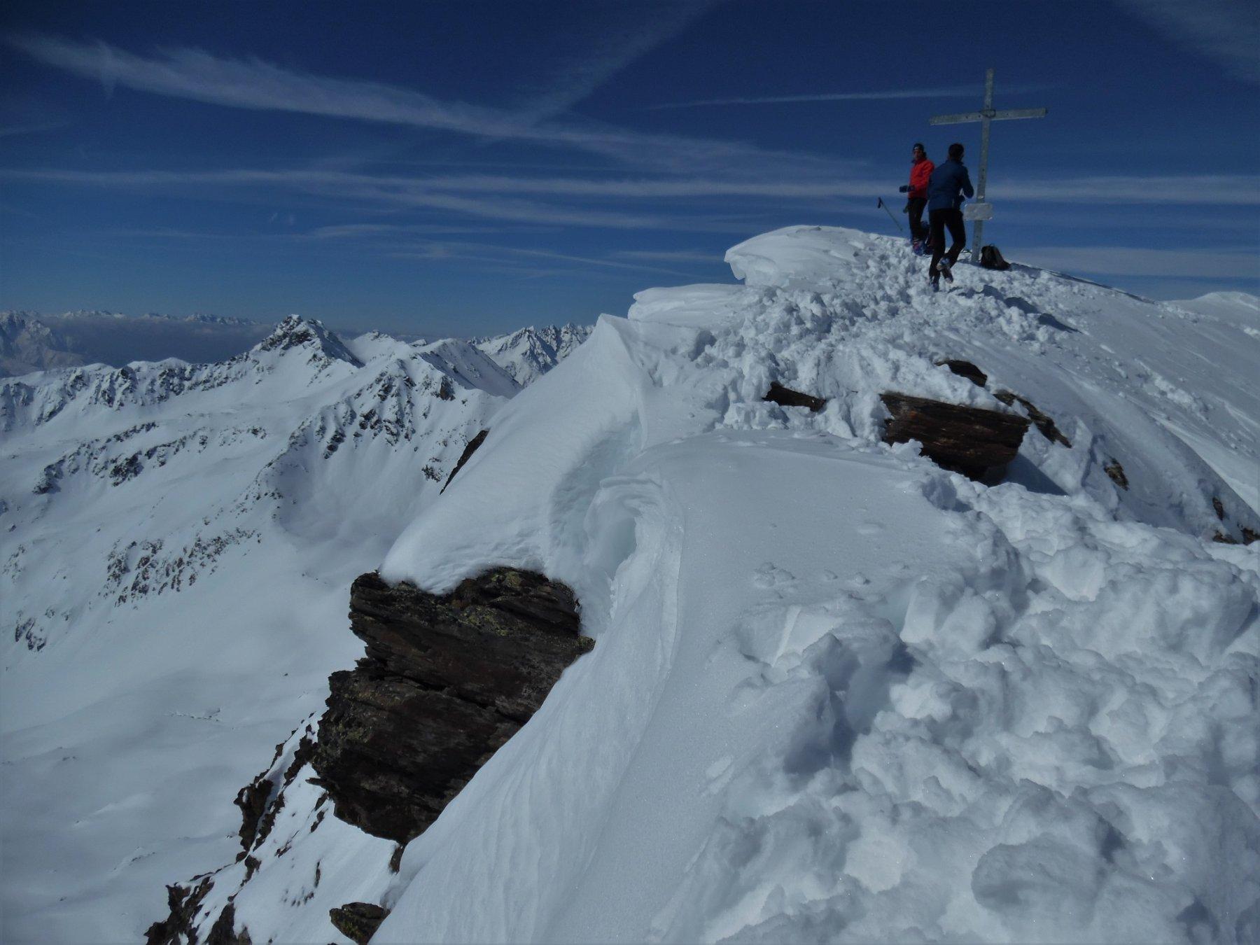 Monte Redival 2973 m. Ultimi metri a piedi