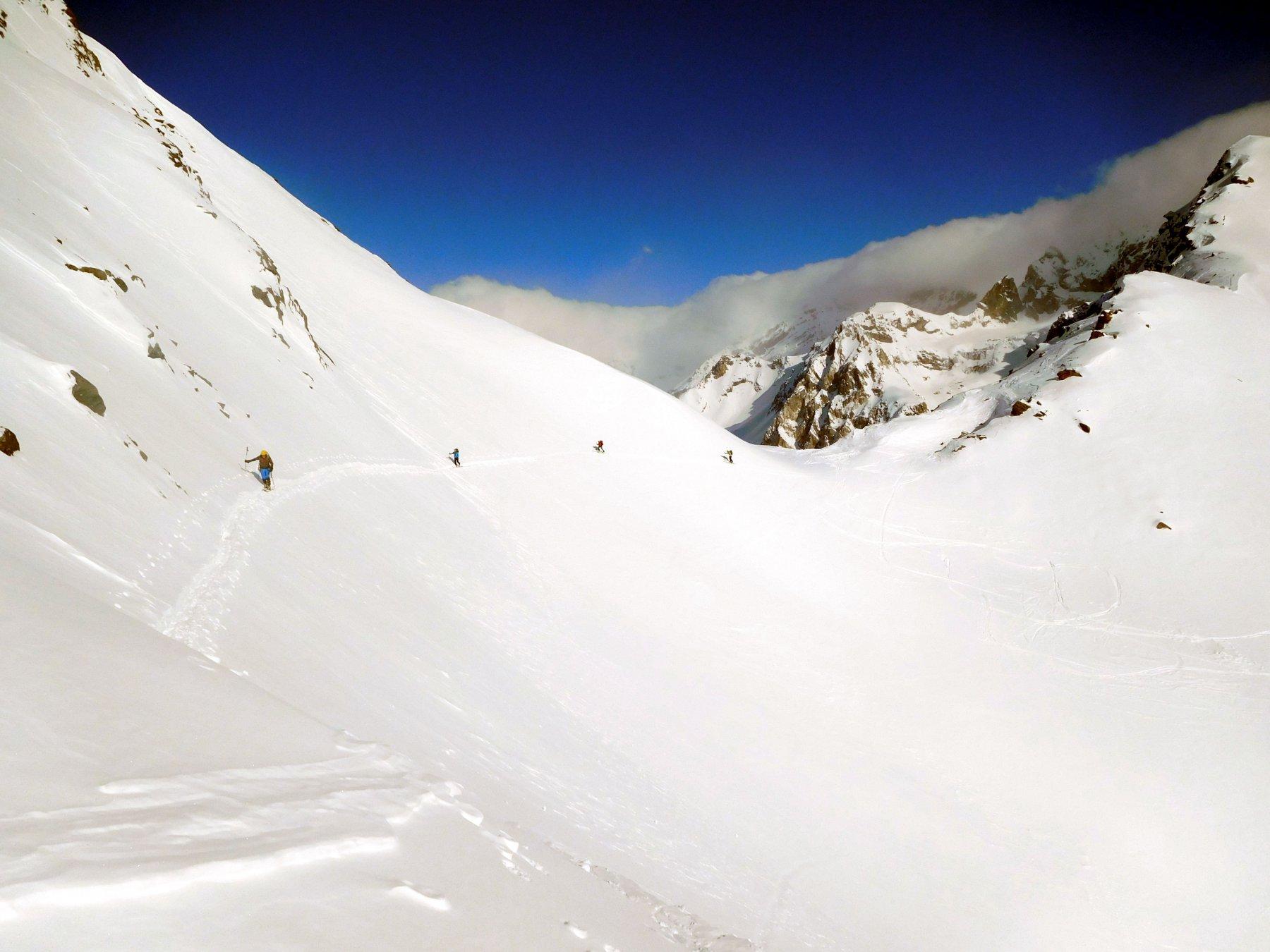 traverso da fare solo con neve sicura
