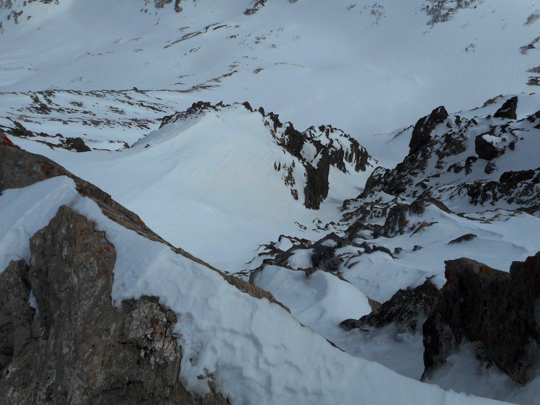 parte alta del canale vista dalla cima