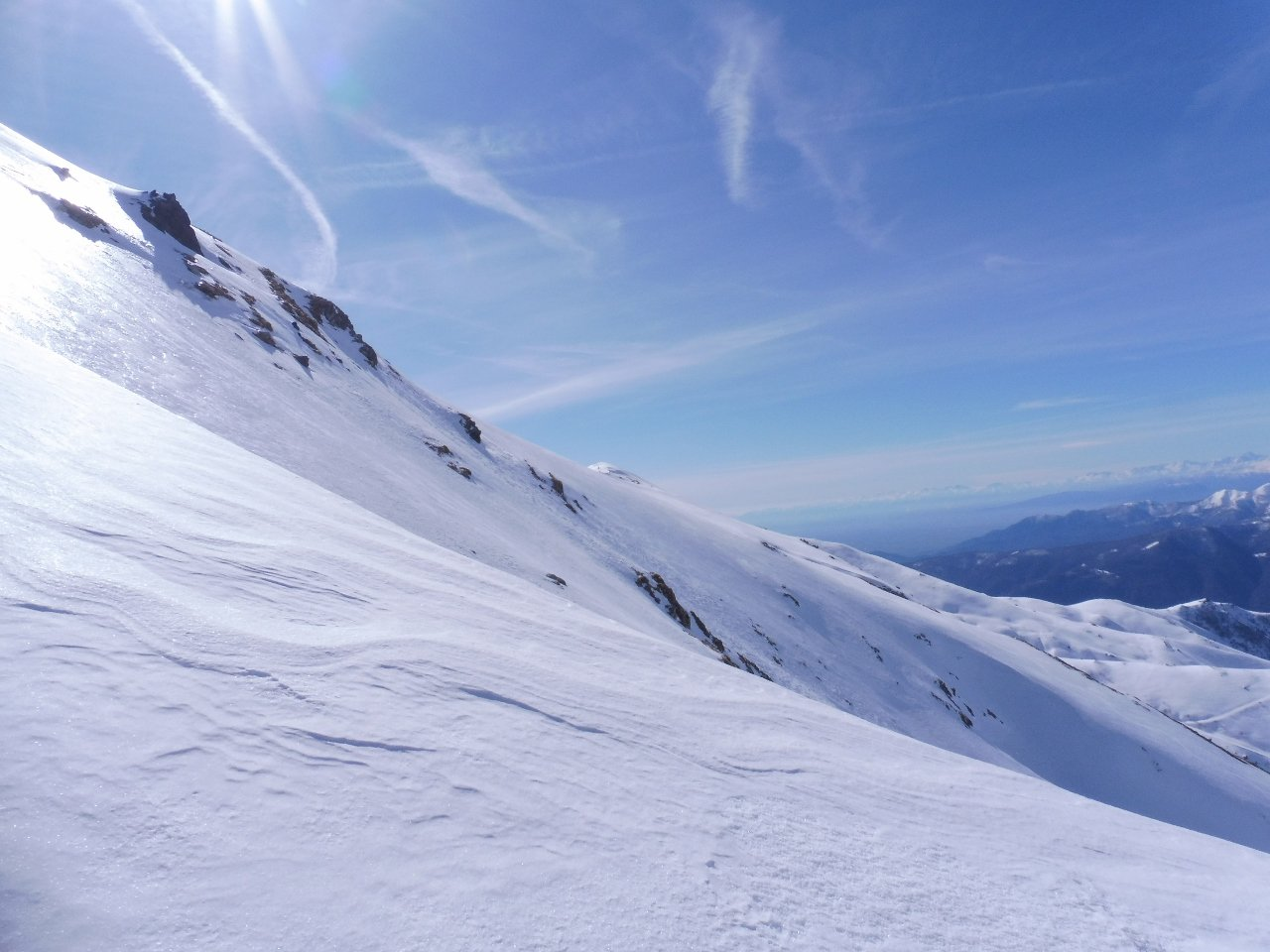 03 - pendii ghiacciati ad ovest della cima, parte finale