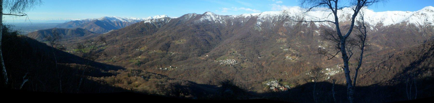 Panorama tra colle Matteo e l'Artè