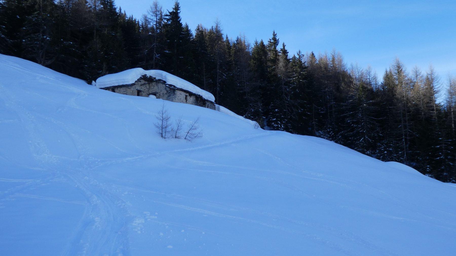 raggiungendo l'alpeggio dell'Alpe Arsine