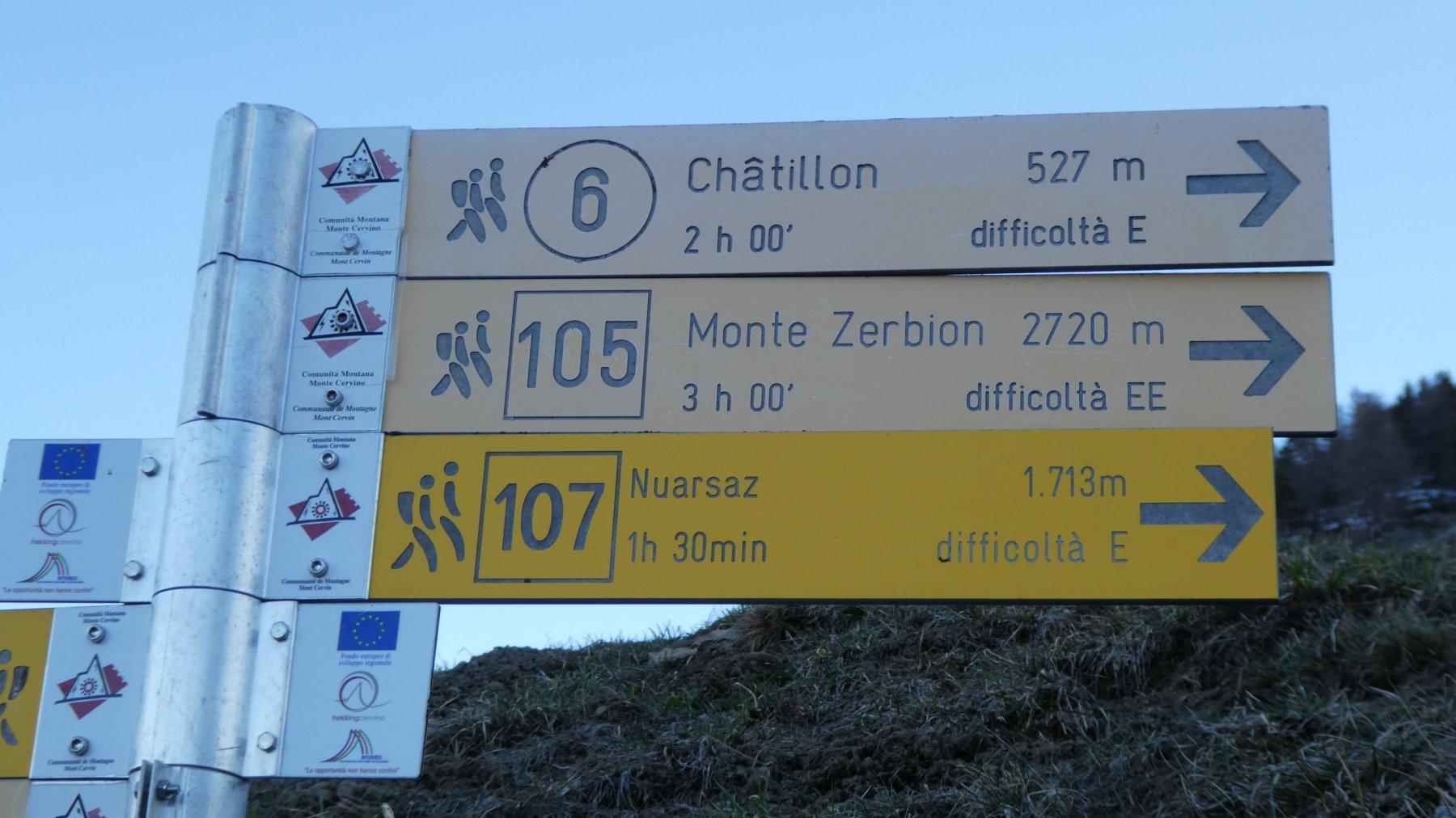 cartelli indicatori a Promiod