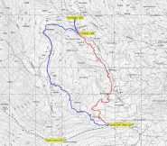 Mappa con le due possibili varianti
