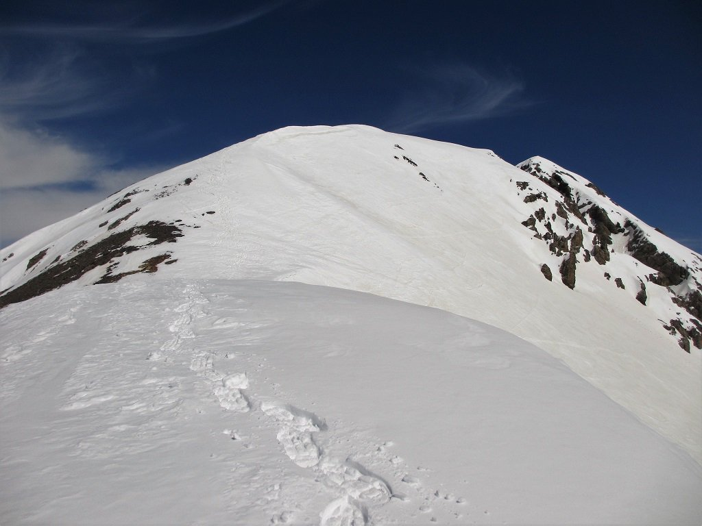 La cresta ovest che sale al M.Cassorso