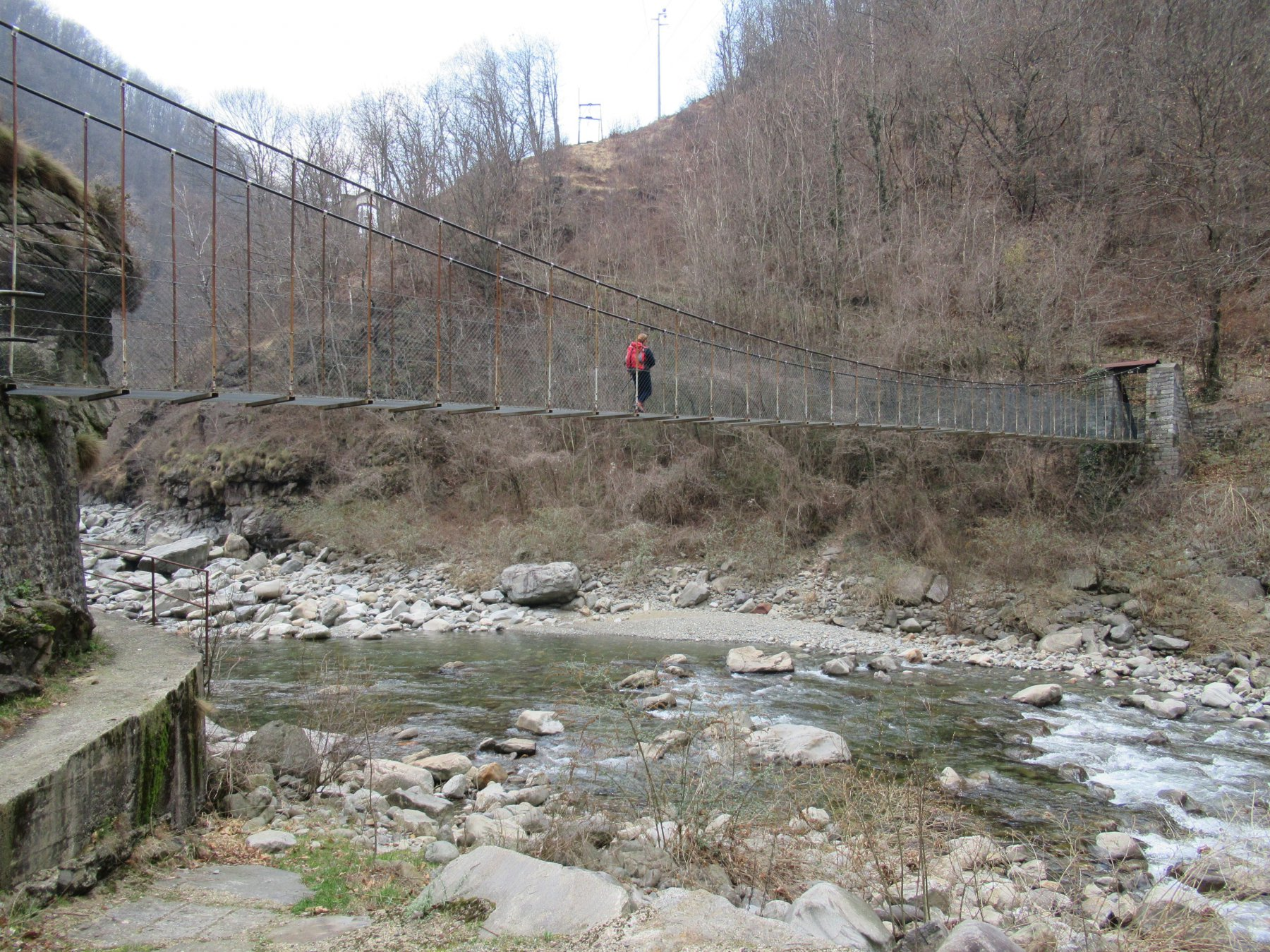 Ponte sospeso sul Sessera