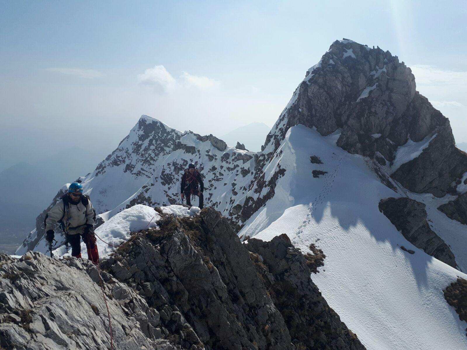Antoroto (Monte) e Punta Armando Sereno Parete Nord (Goulotte Inshallah) e Cresta Est 2018-04-07