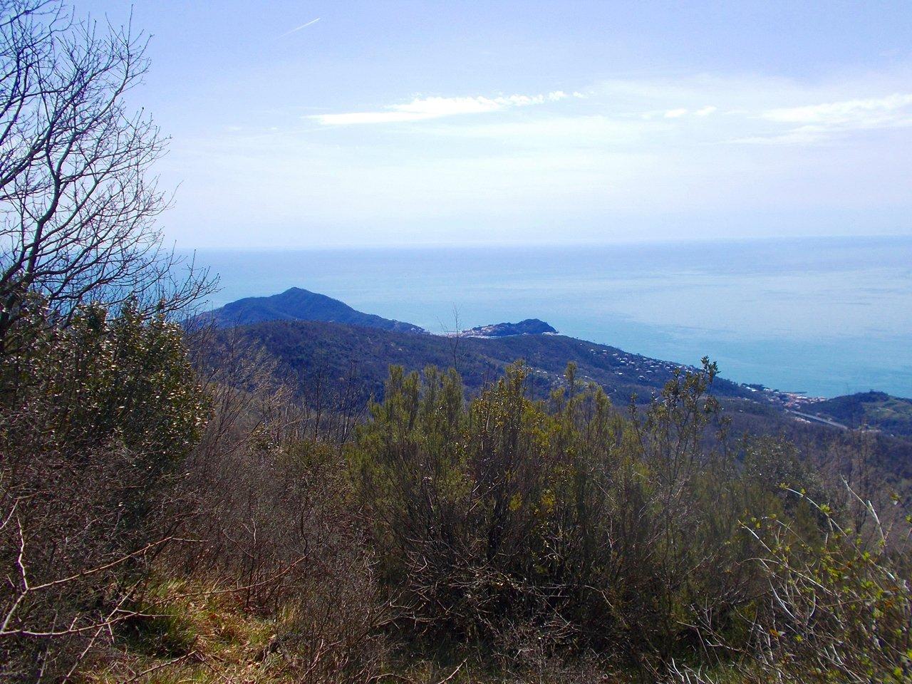 vista su Sestri Levante dal Monte Capenardo-