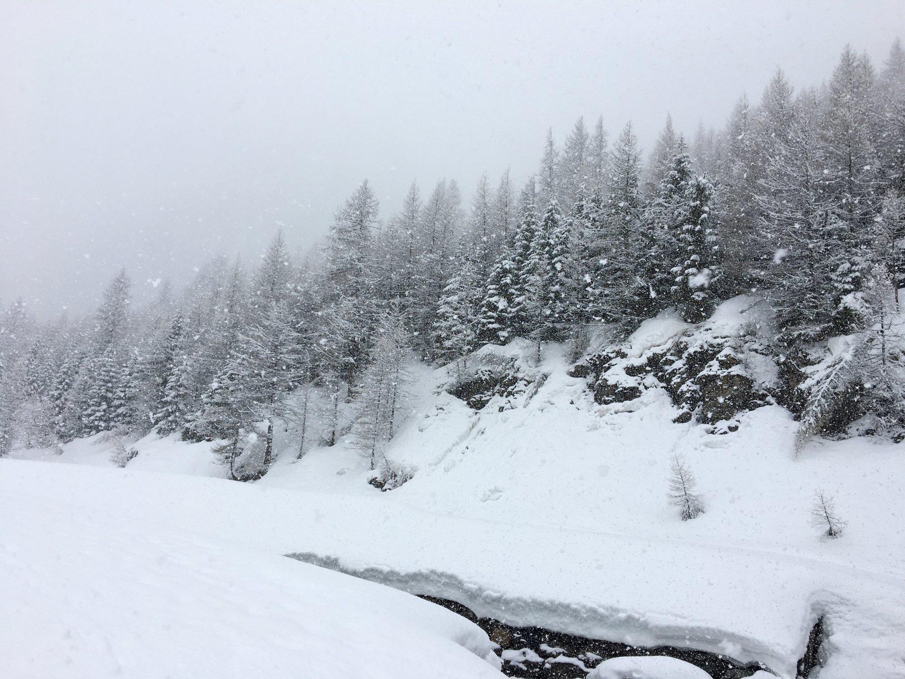 Verso Laval , ambiente invernale