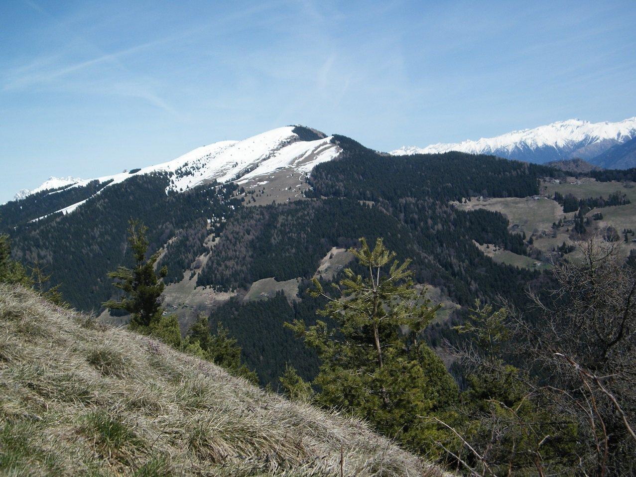 Il Monte Alto, al centro, visto dal Monte Colombina