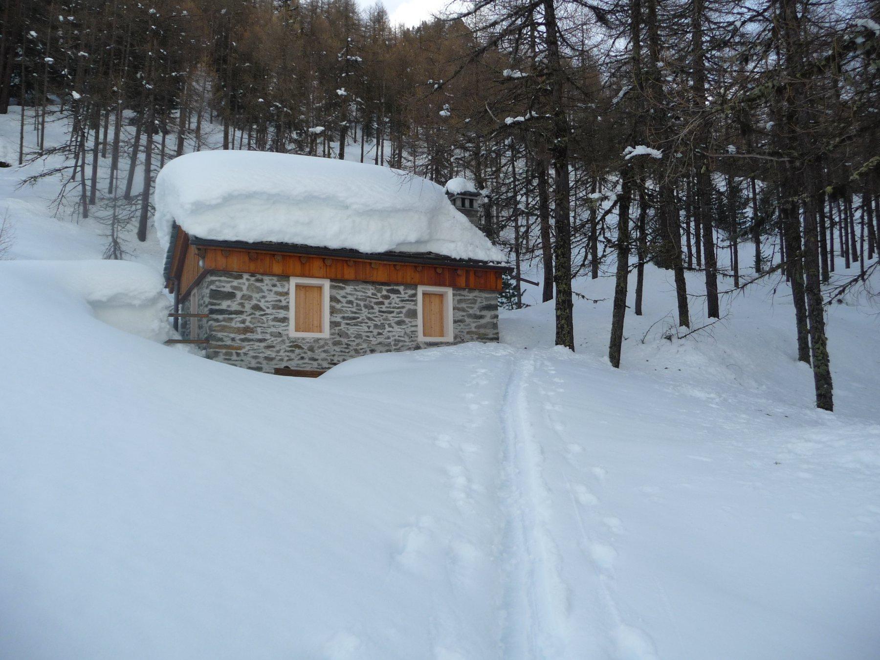 Un pò di neve alla partenza