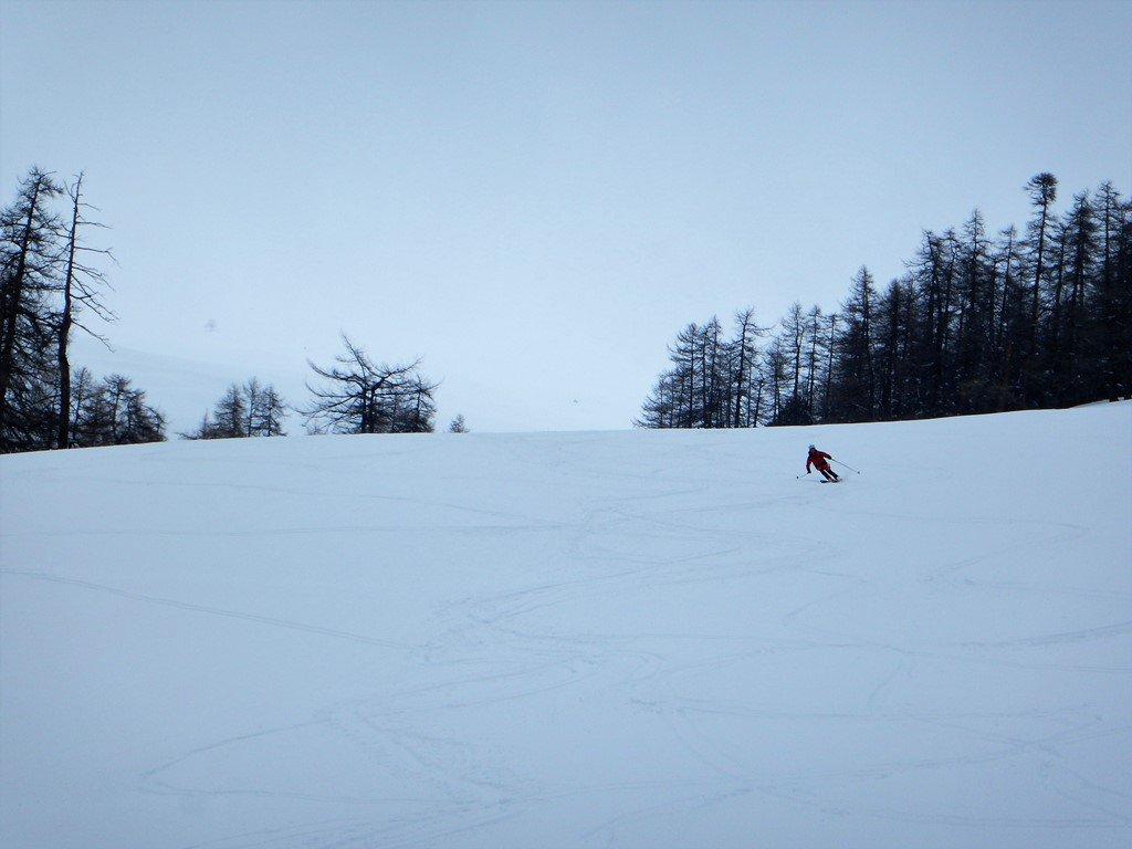 Ultimi metri con neve finalmente sciabile
